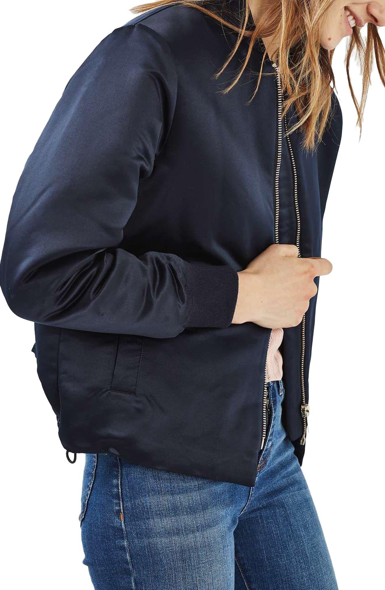 Alternate Image 1 Selected - Topshop Sven Bomber Jacket