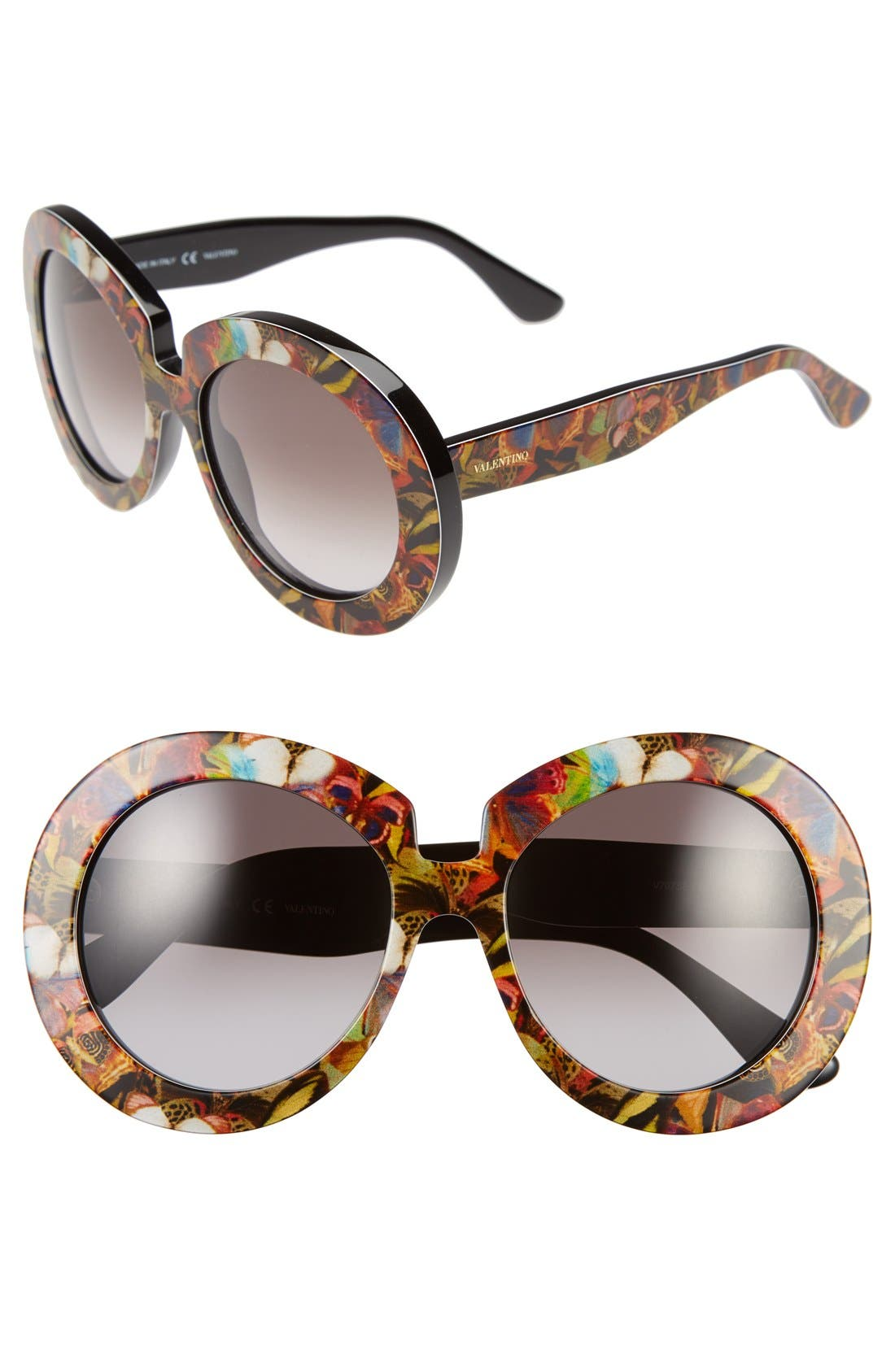 Alternate Image 1 Selected - Valentino 54mm Oversized Gradient Sunglasses