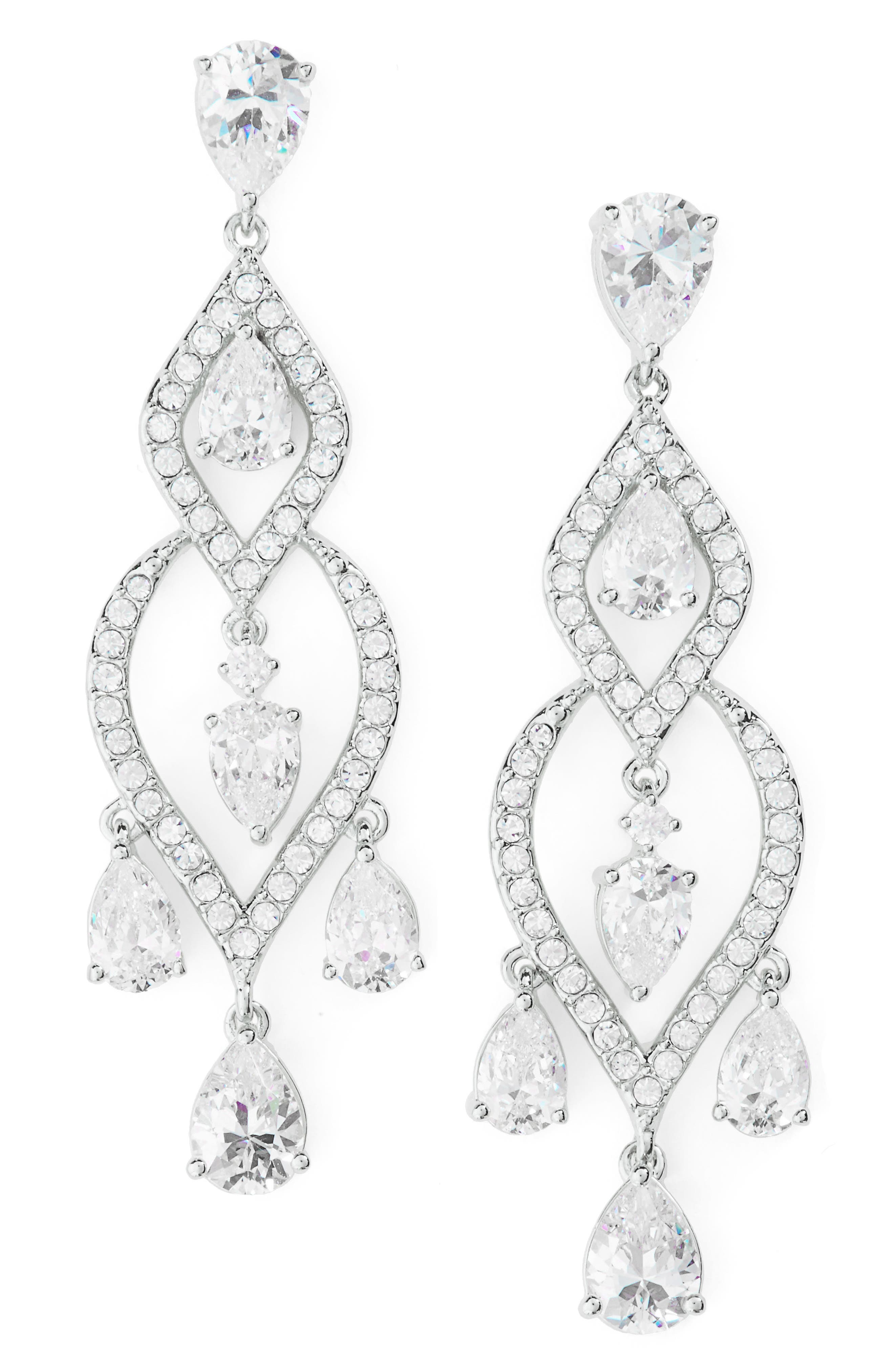 Legacy Chandelier Earrings,                             Main thumbnail 1, color,                             Silver