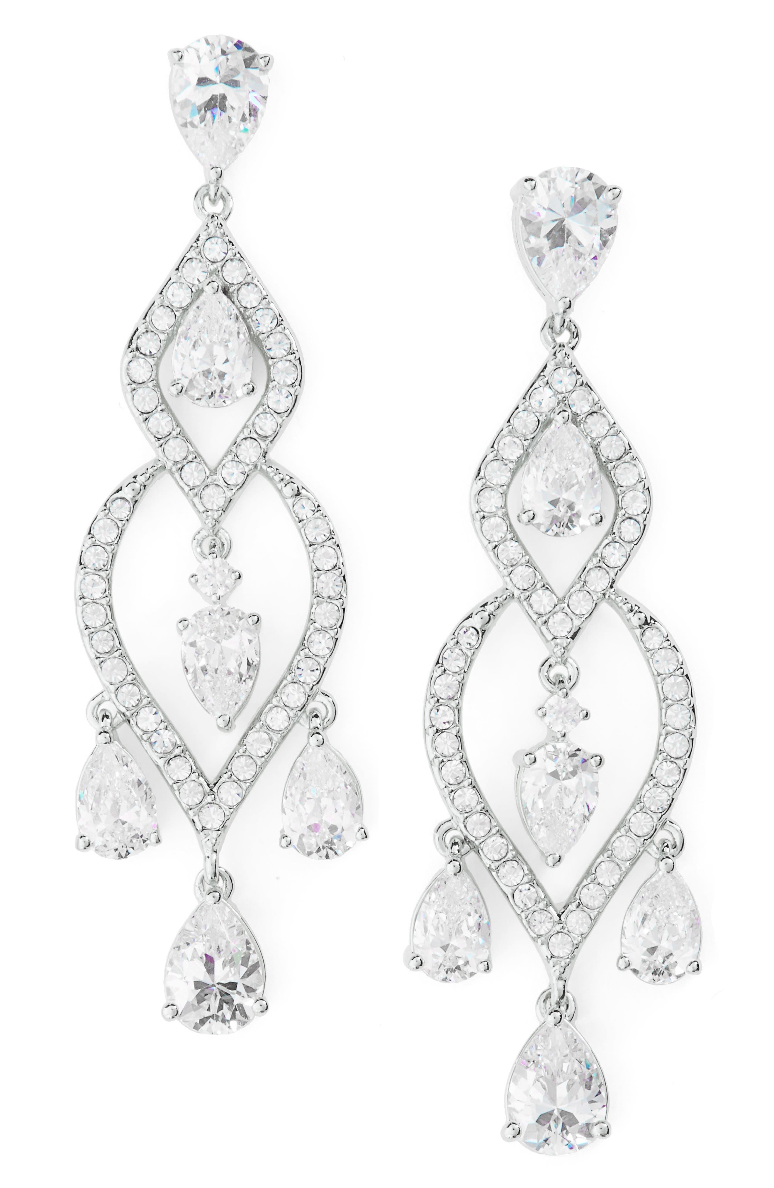 Legacy Chandelier Earrings,                         Main,                         color, Silver