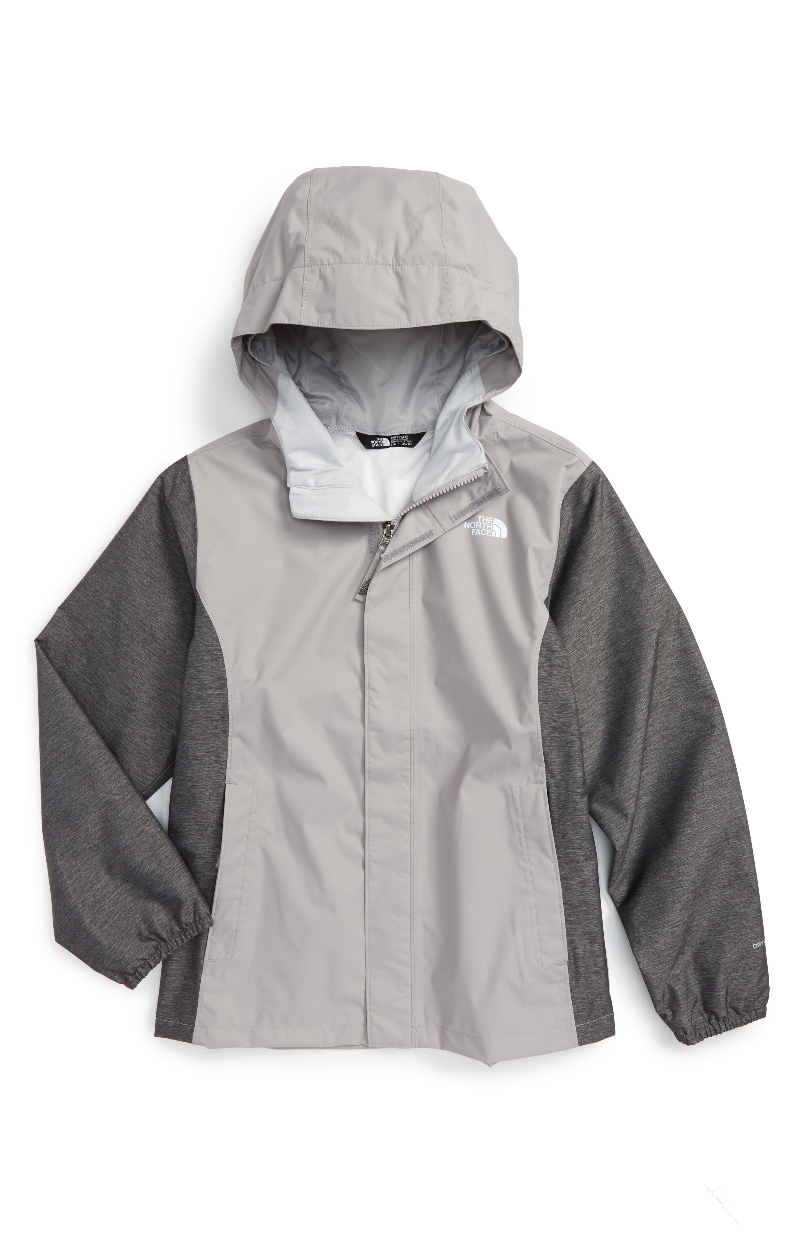 The North Face 'Resolve' Reflective Waterproof Jacket (Big Girls)