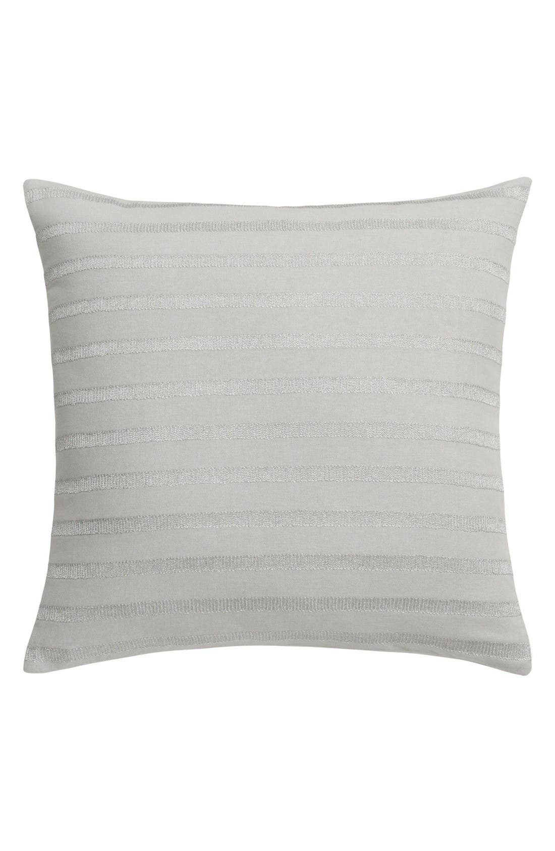 Capri Stripe Accent Pillow,                             Main thumbnail 1, color,                             Silver