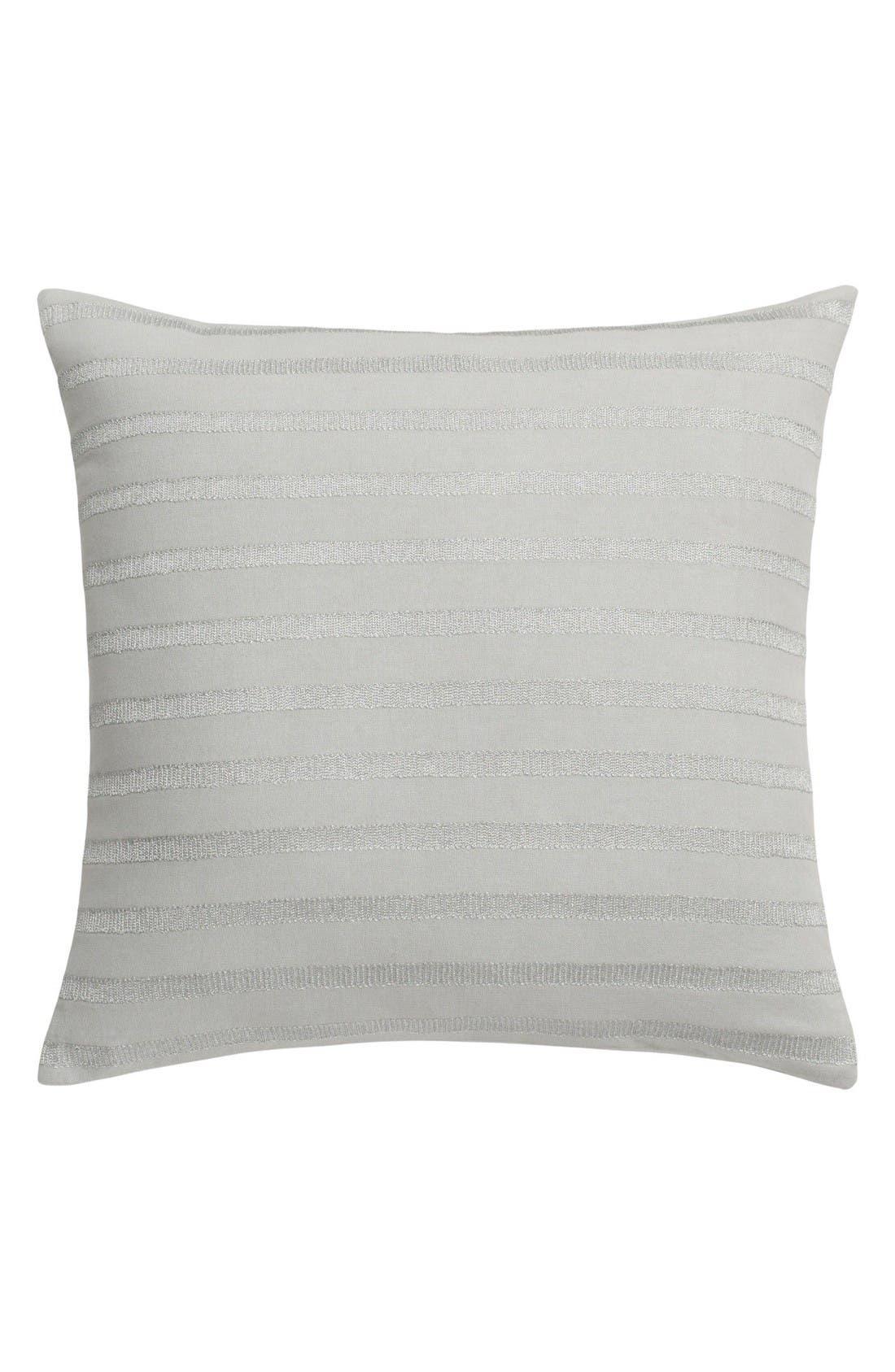 Capri Stripe Accent Pillow,                         Main,                         color, Silver