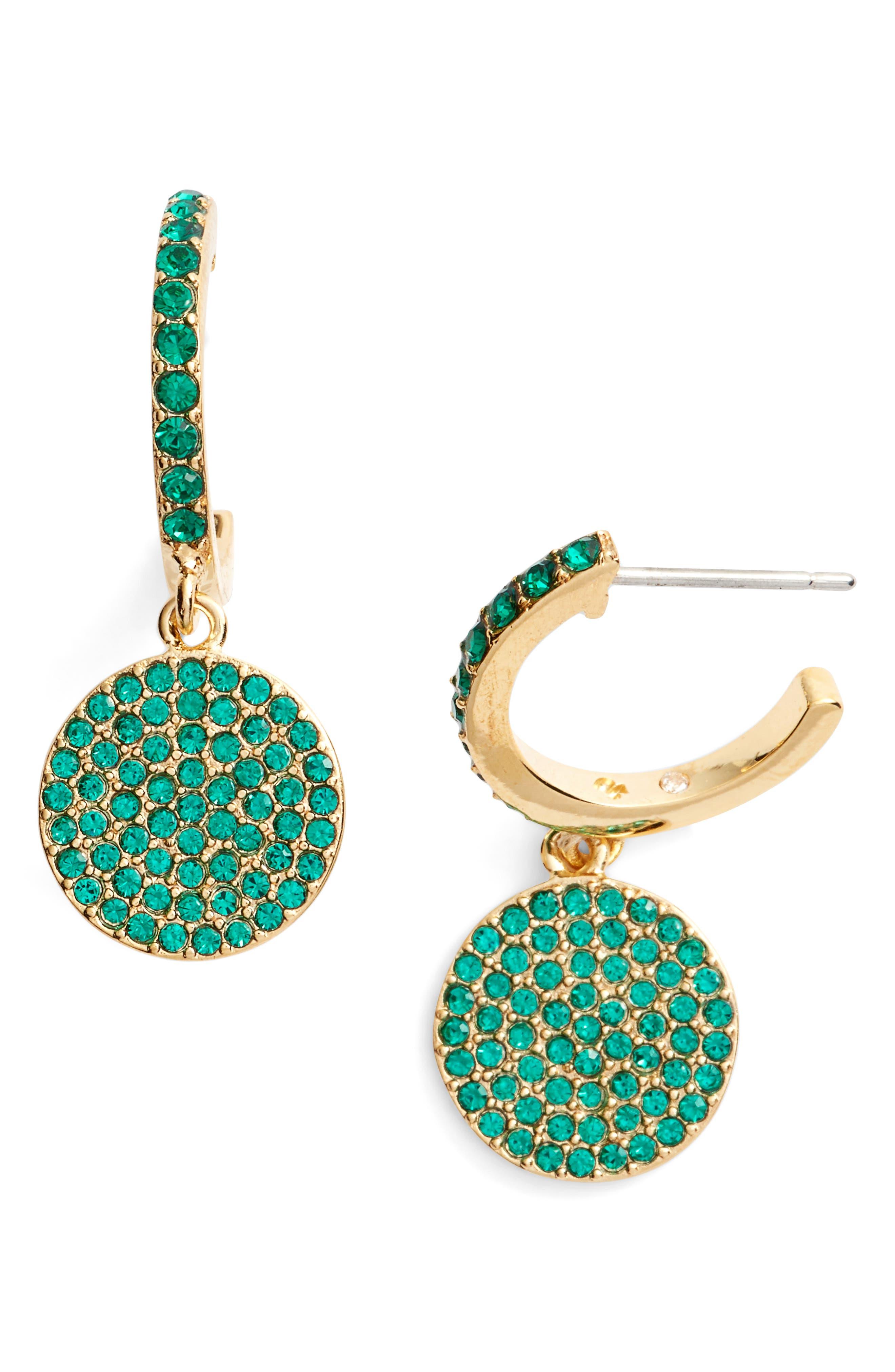 kate spade new york shine on pavé drop earrings
