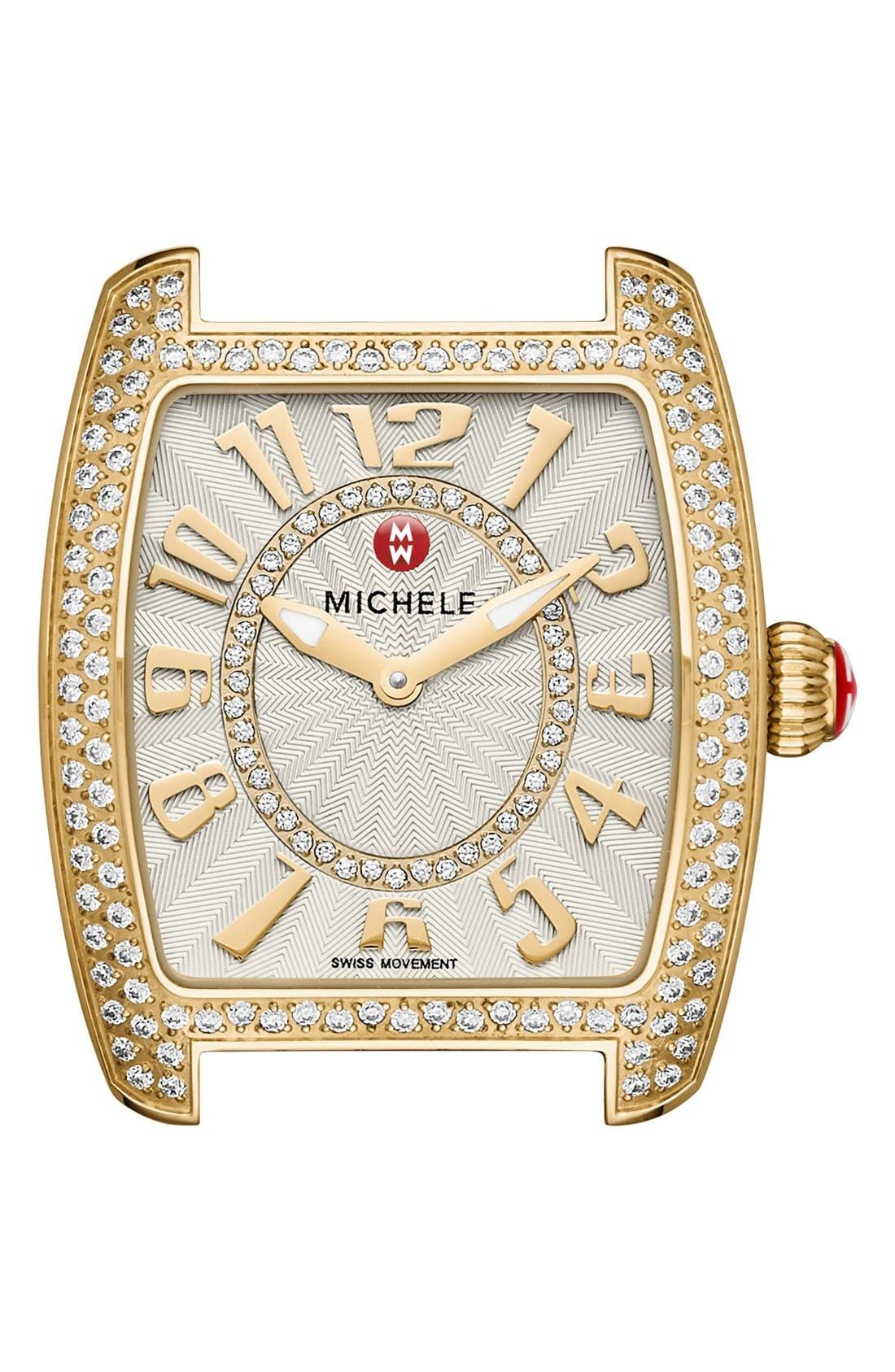Alternate Image 1 Selected - MICHELE Urban Mini Diamond Dial Watch Case, 29mm x 30mm