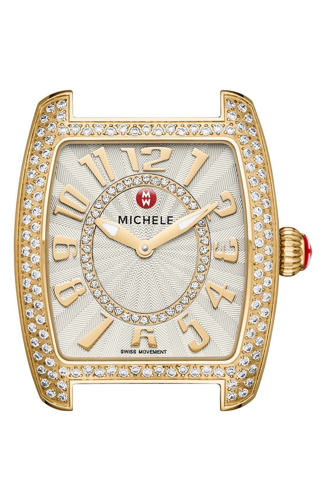 Urban Mini Diamond Dial Watch Case, 29mm x 30mm,                         Main,                         color, Gold