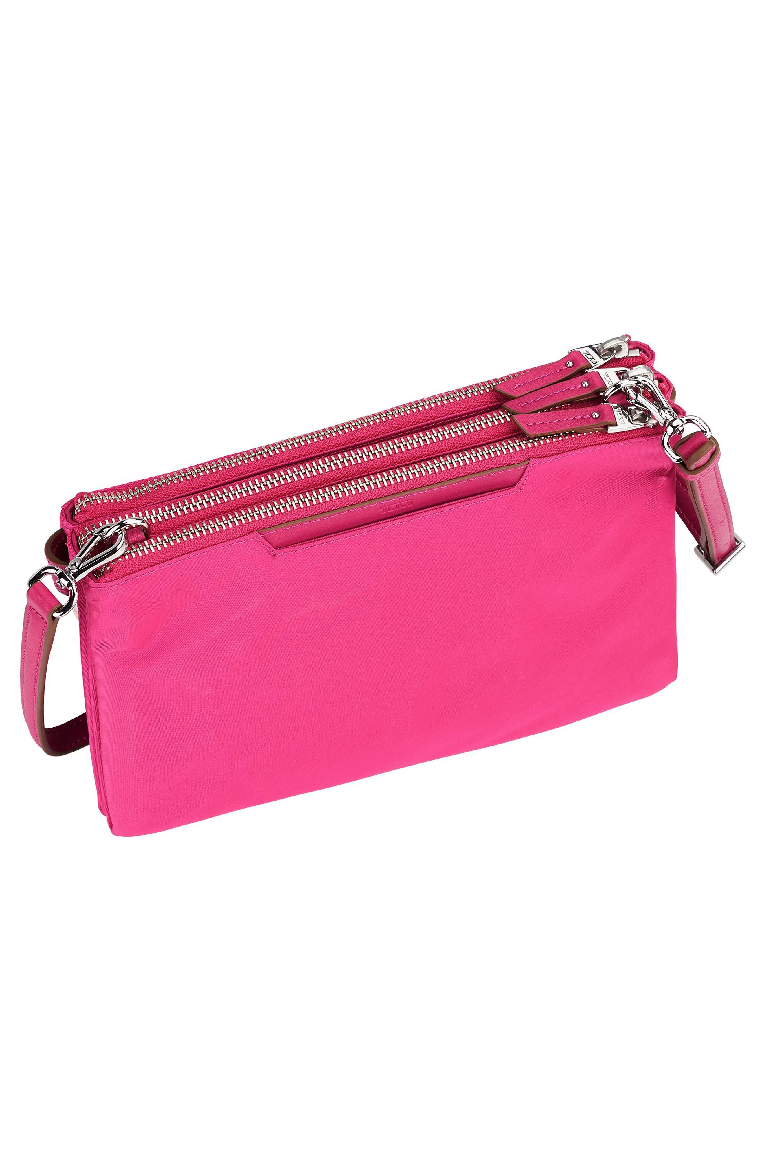 Voyageur - Tristen Nylon Crossbody Bag,                             Alternate thumbnail 5, color,                             Pink