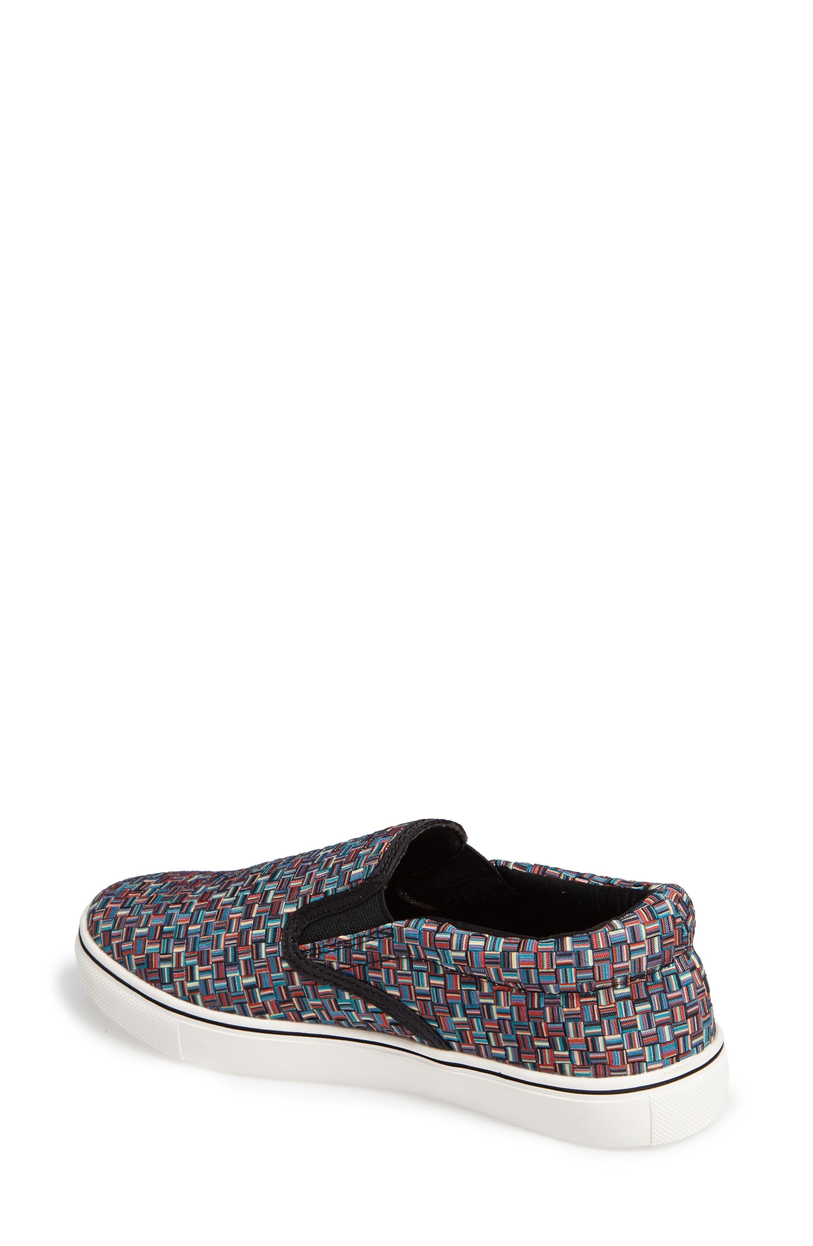 'Verona' Slip-On Sneaker,                             Alternate thumbnail 2, color,                             Lapis Multi Fabric