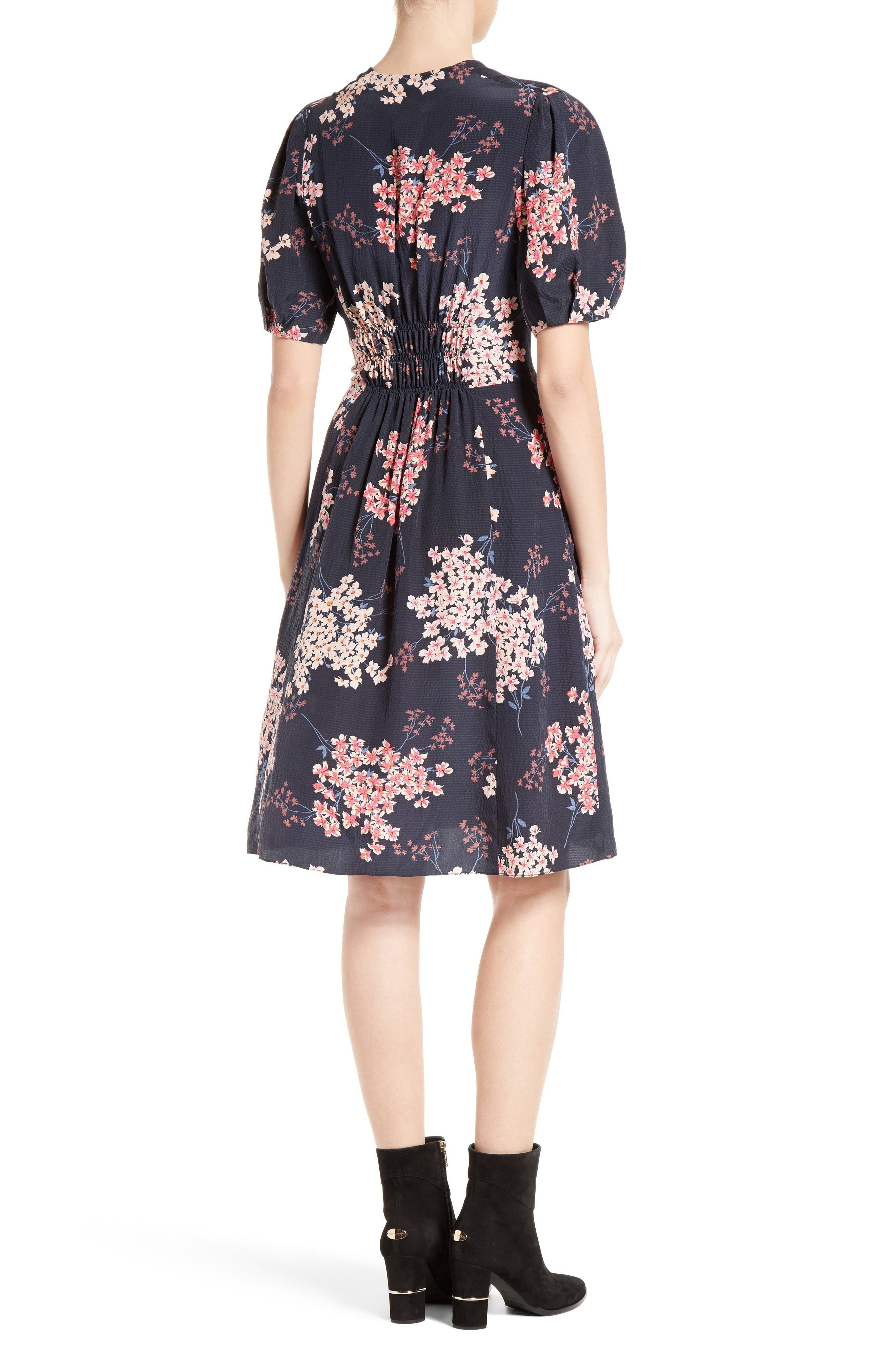 Alternate Image 2  - Rebecca Taylor Phlox Silk Midi Dress