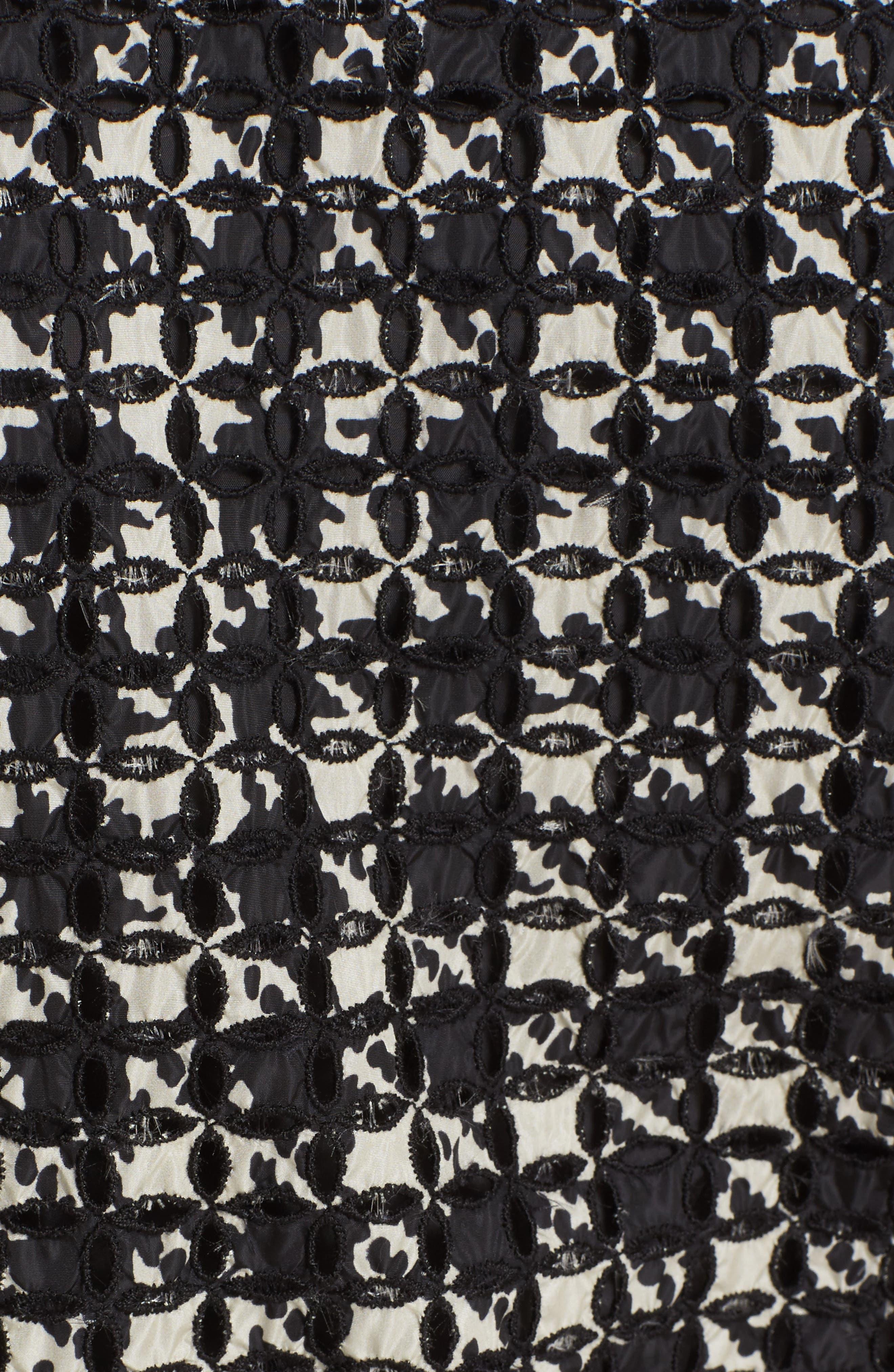 Fiadone Tweed Print Jacket,                             Alternate thumbnail 3, color,                             Black