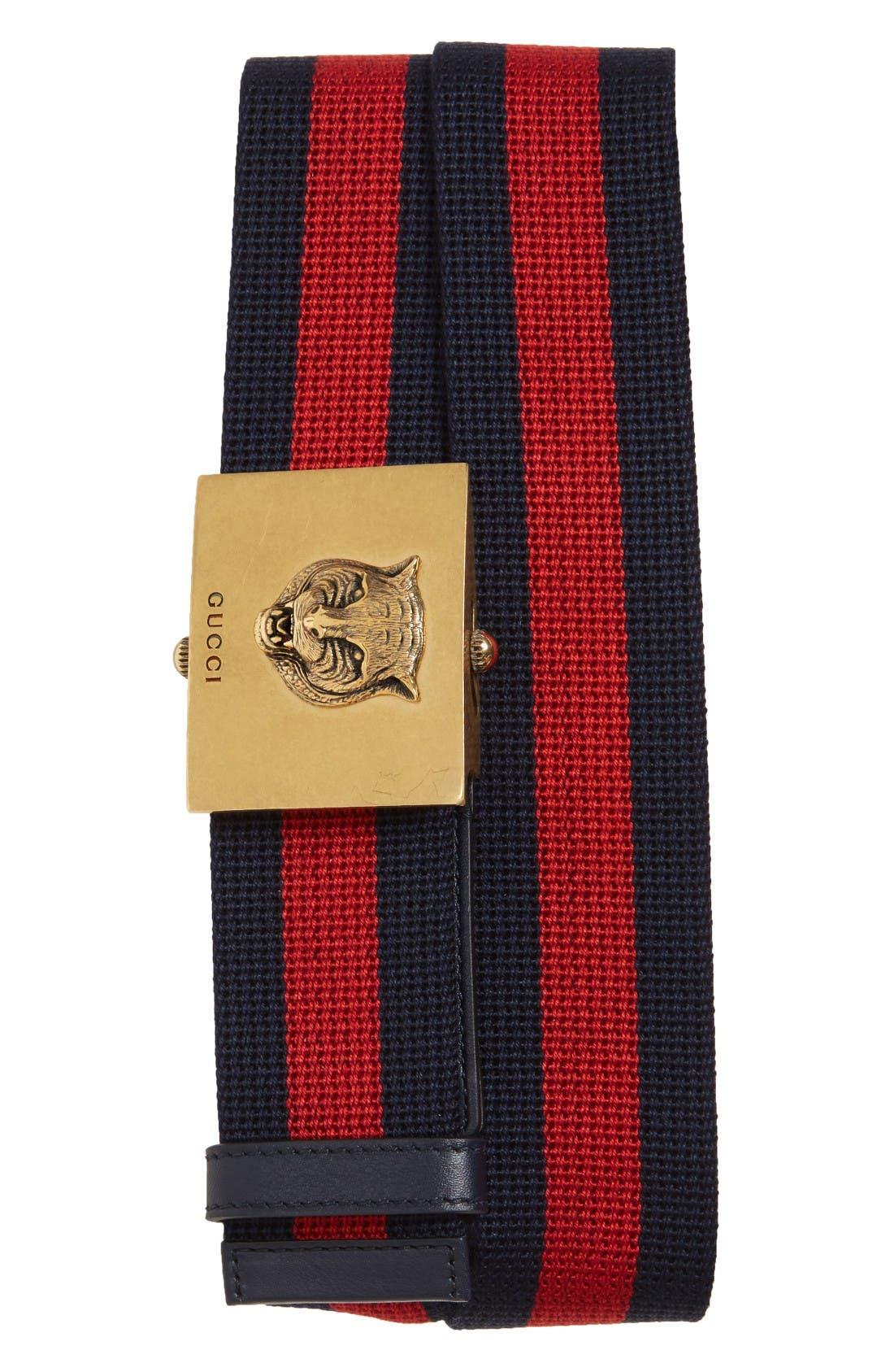 Gucci Tiger Web Slider Belt