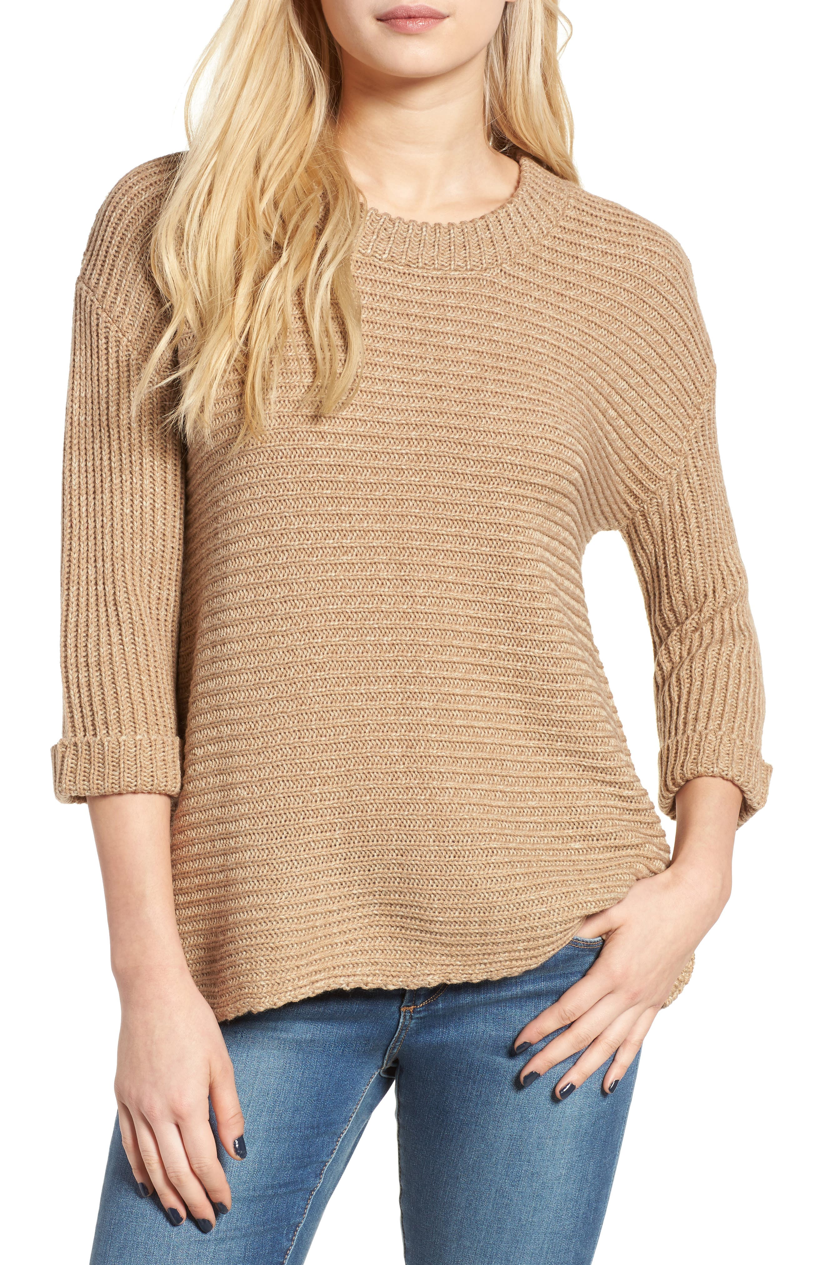 Main Image - Cotton Emporium Texture Knit Pullover