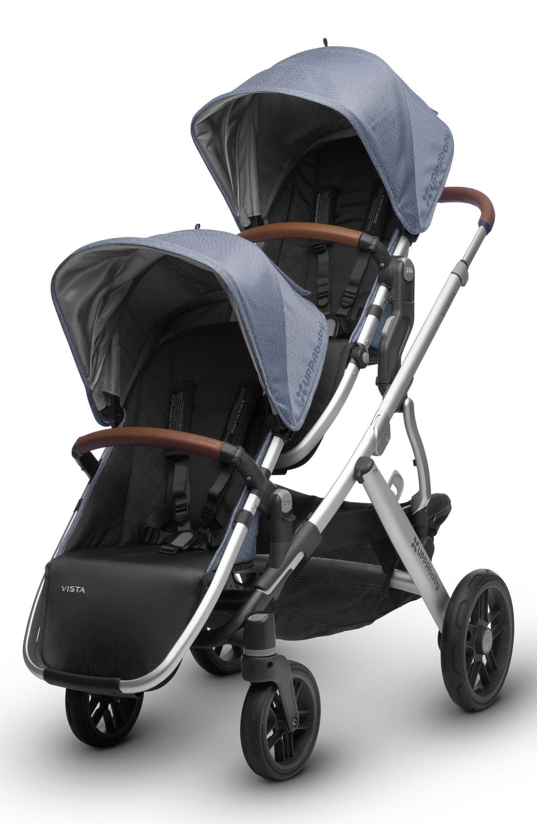 2017 VISTA Henry Aluminum Frame Convertible Stroller with Bassinet & Toddler Seat,                             Alternate thumbnail 8, color,                             Blue Marl