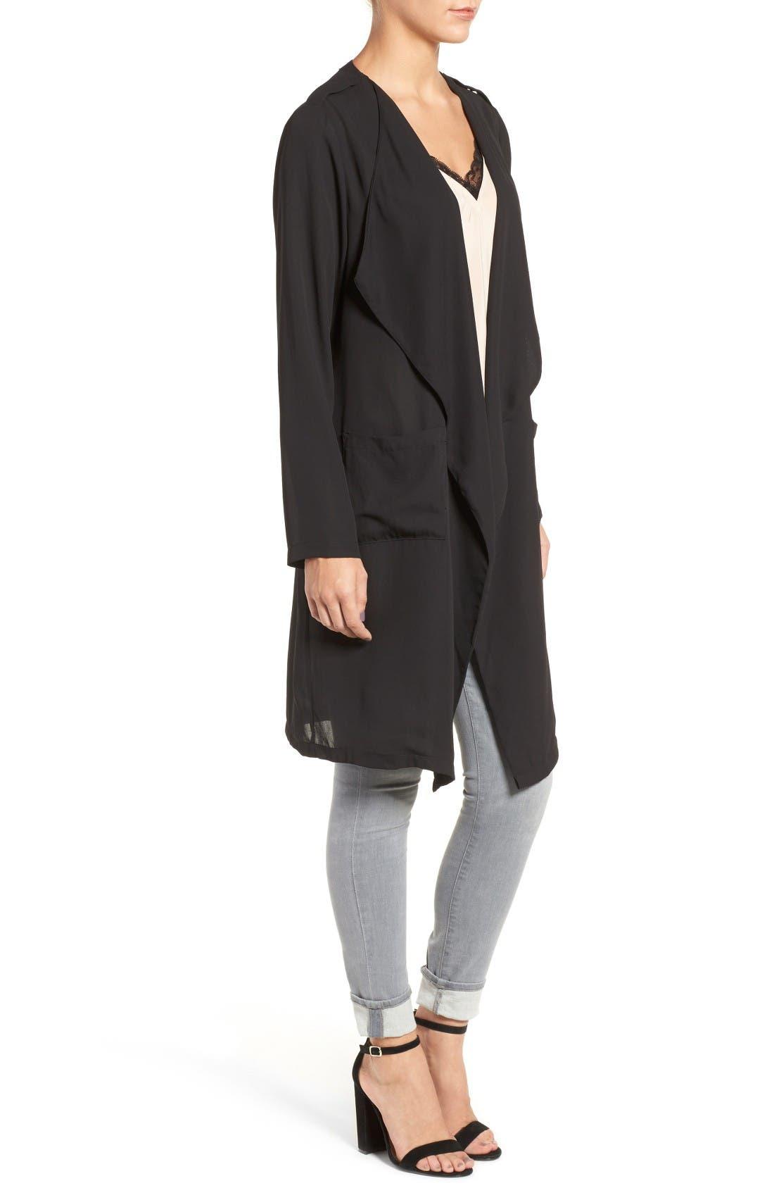 Slouchy Jacket,                             Alternate thumbnail 3, color,                             Black
