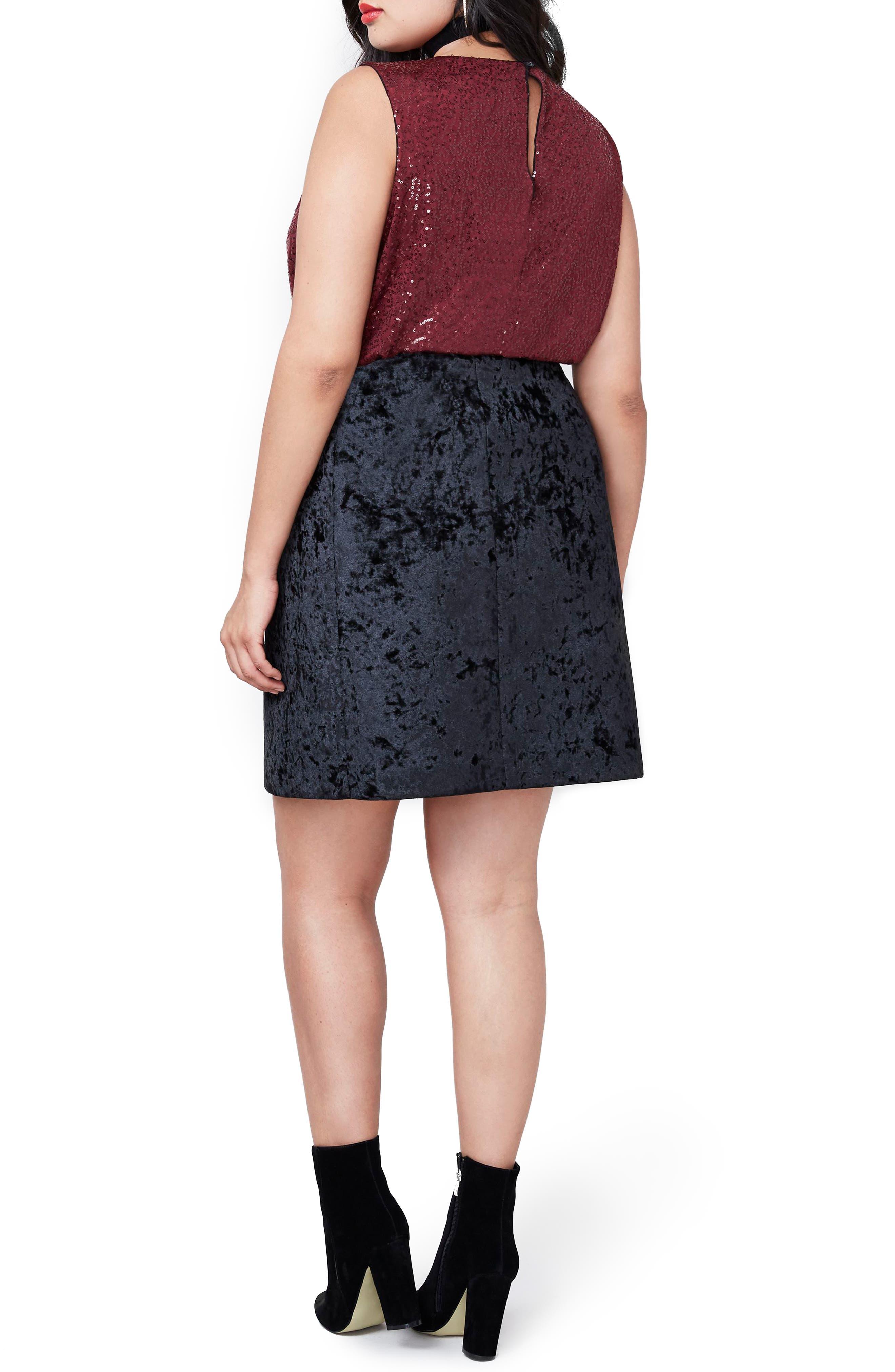 Alternate Image 2  - RACHEL Rachel Roy Sequin Bodysuit (Plus Size)