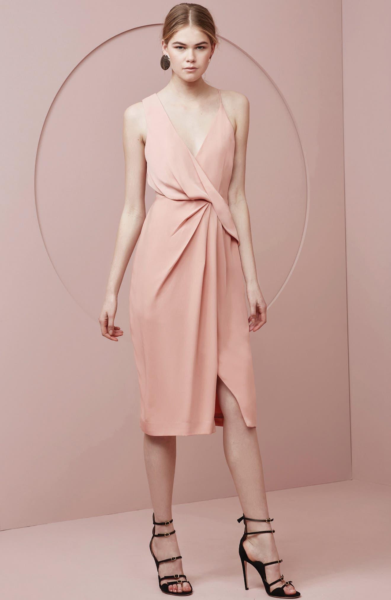 Alternate Image 2  - Keepsake the Label Without You Asymmetrical Midi Dress
