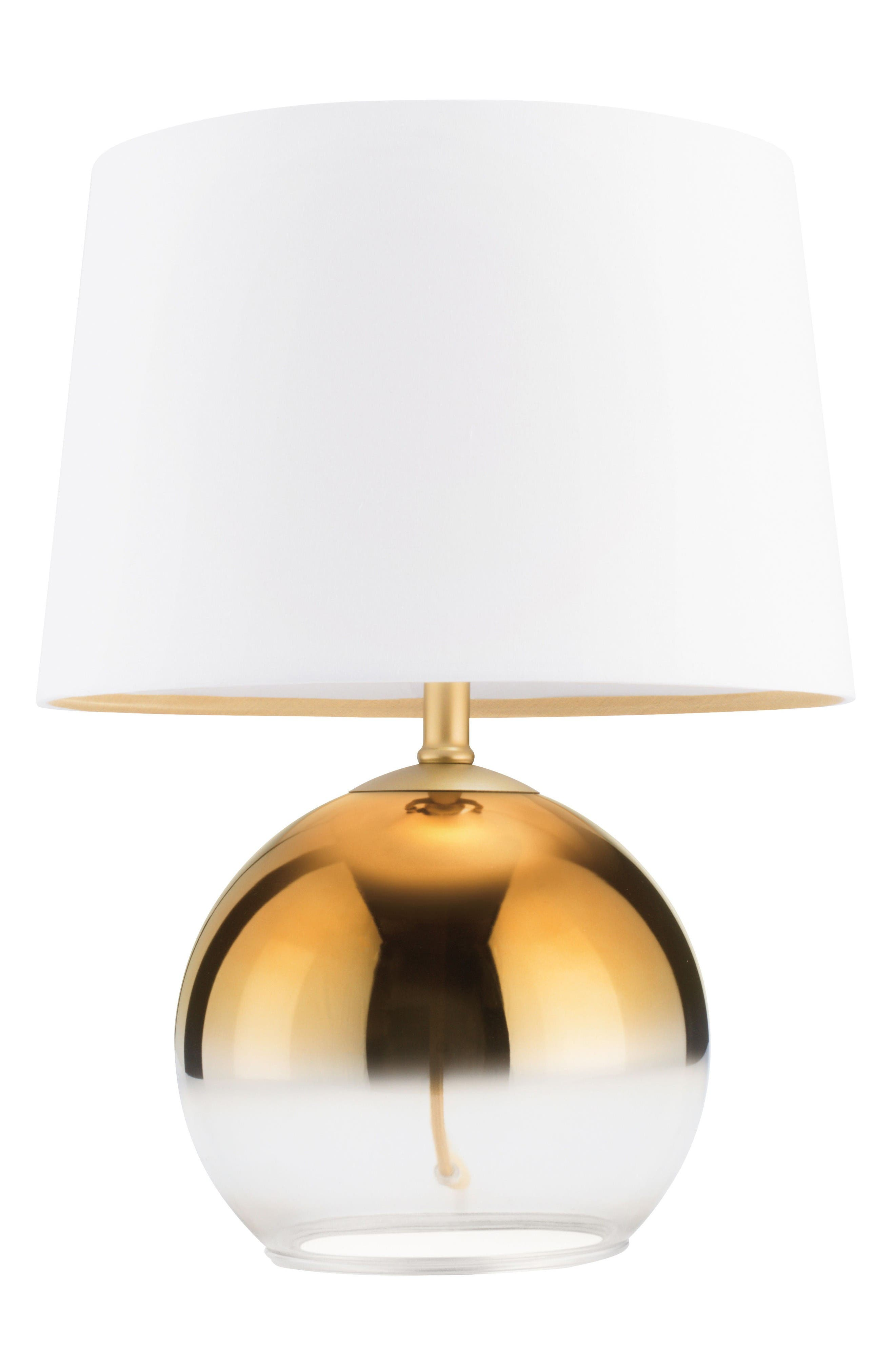 Glass Golden Ombré Table Lamp,                         Main,                         color, Metallic Gold