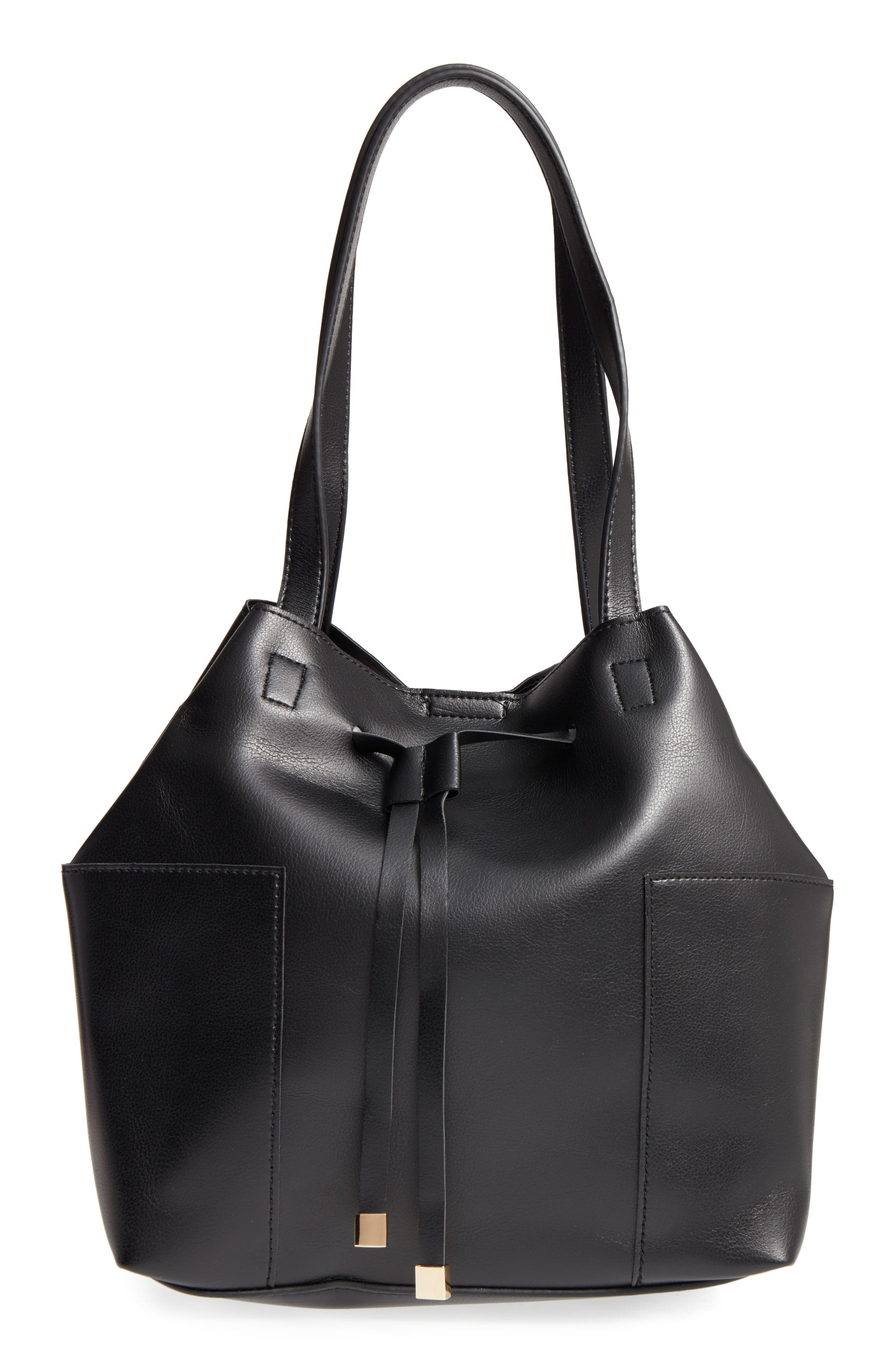 Alternate Image 1 Selected - Sole Society Jocelynn Faux Leather Bucket Bag