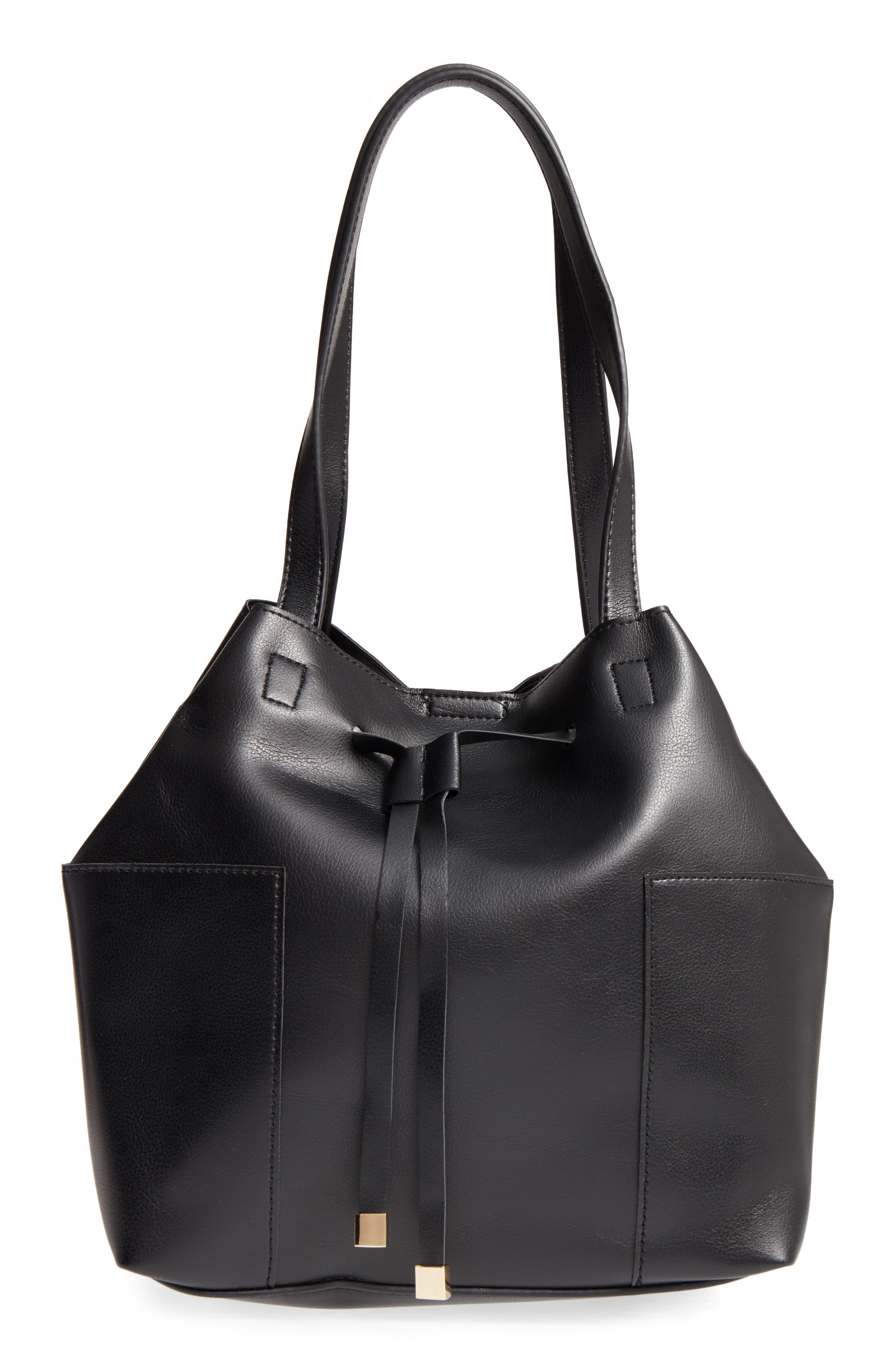 Main Image - Sole Society Jocelynn Faux Leather Bucket Bag