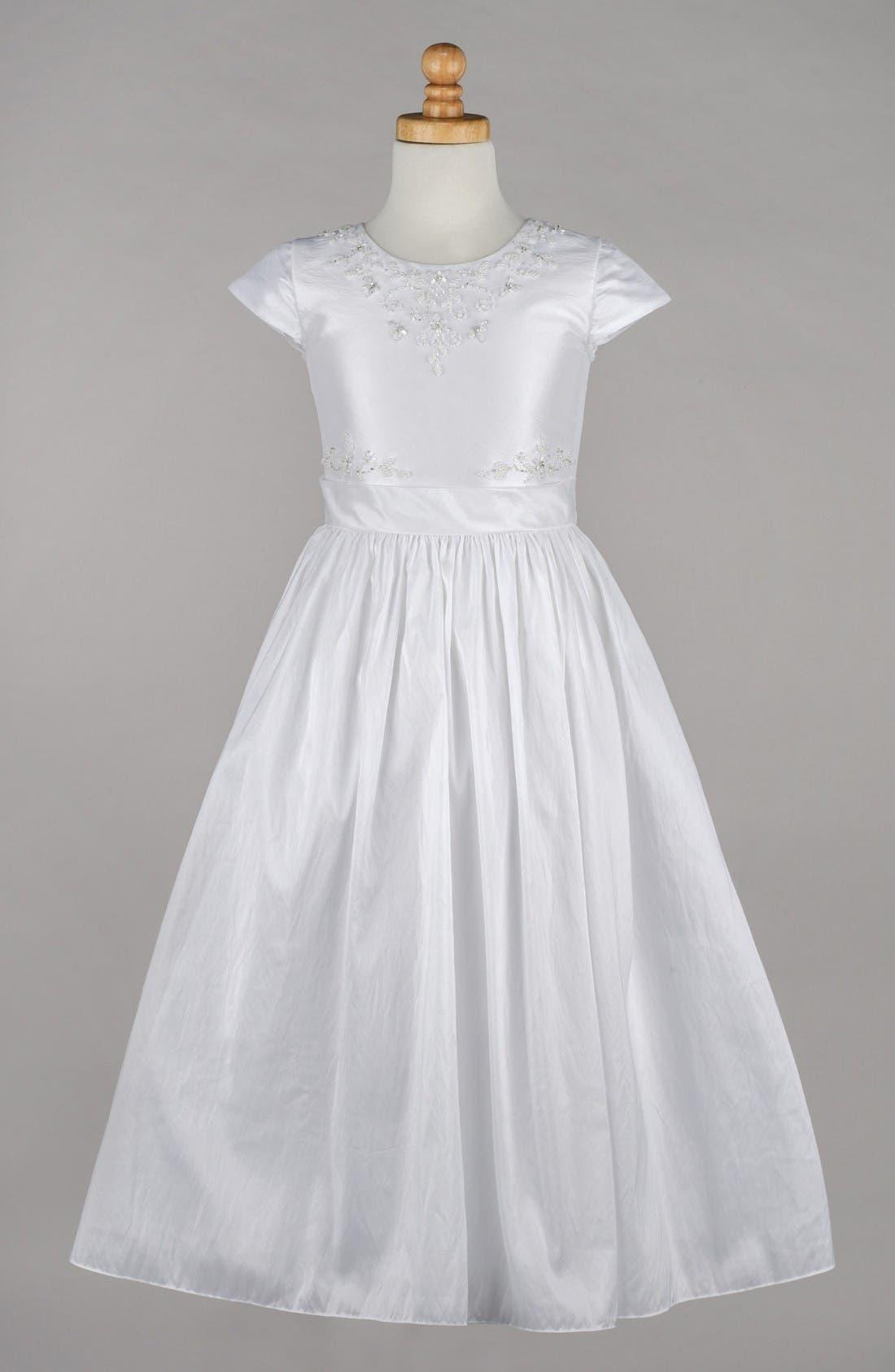 LAUREN MARIE Beaded Taffeta First Communion Dress