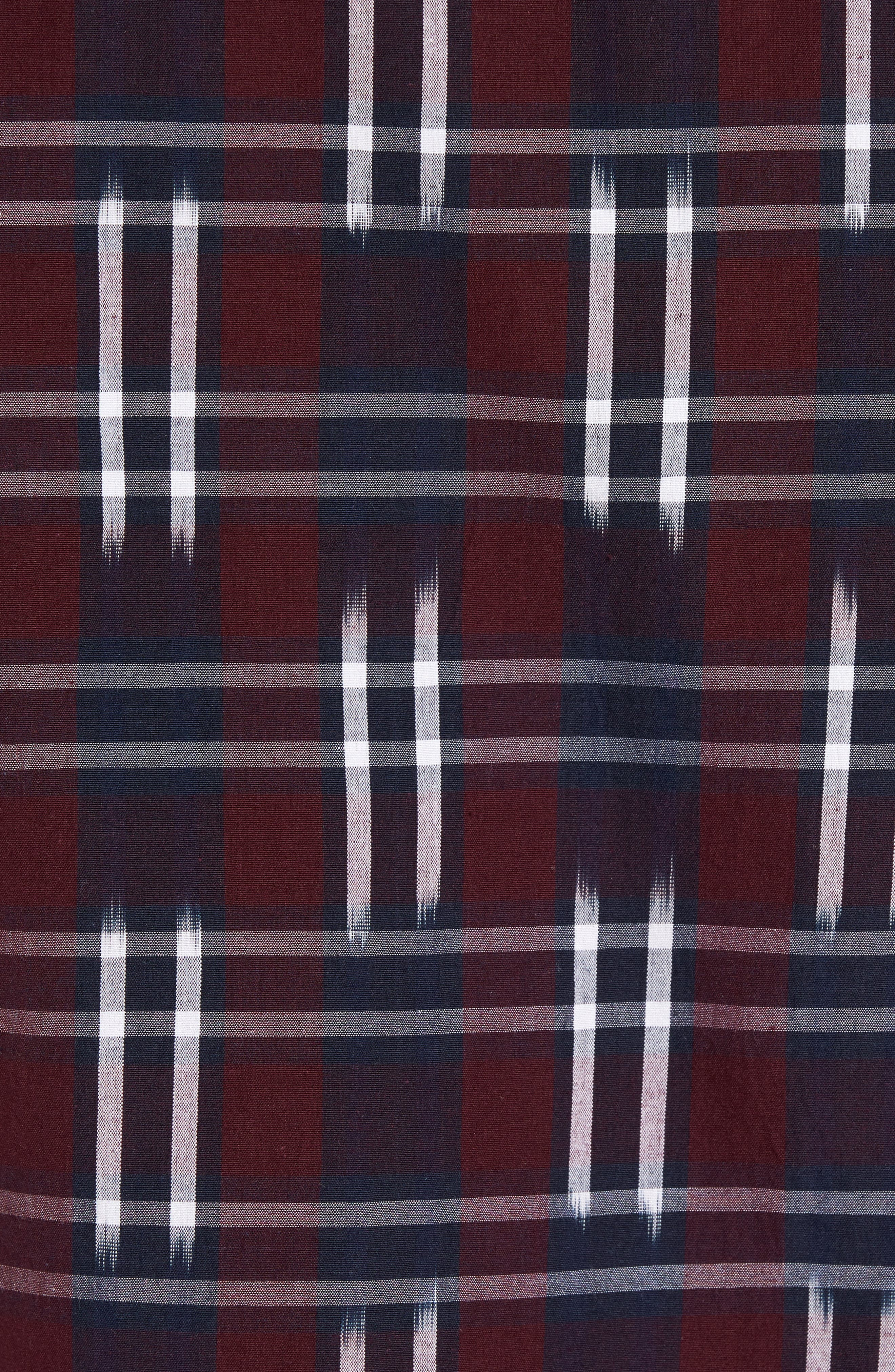 Alternate Image 5  - French Connection Slim Fit Ikat Check Sport Shirt