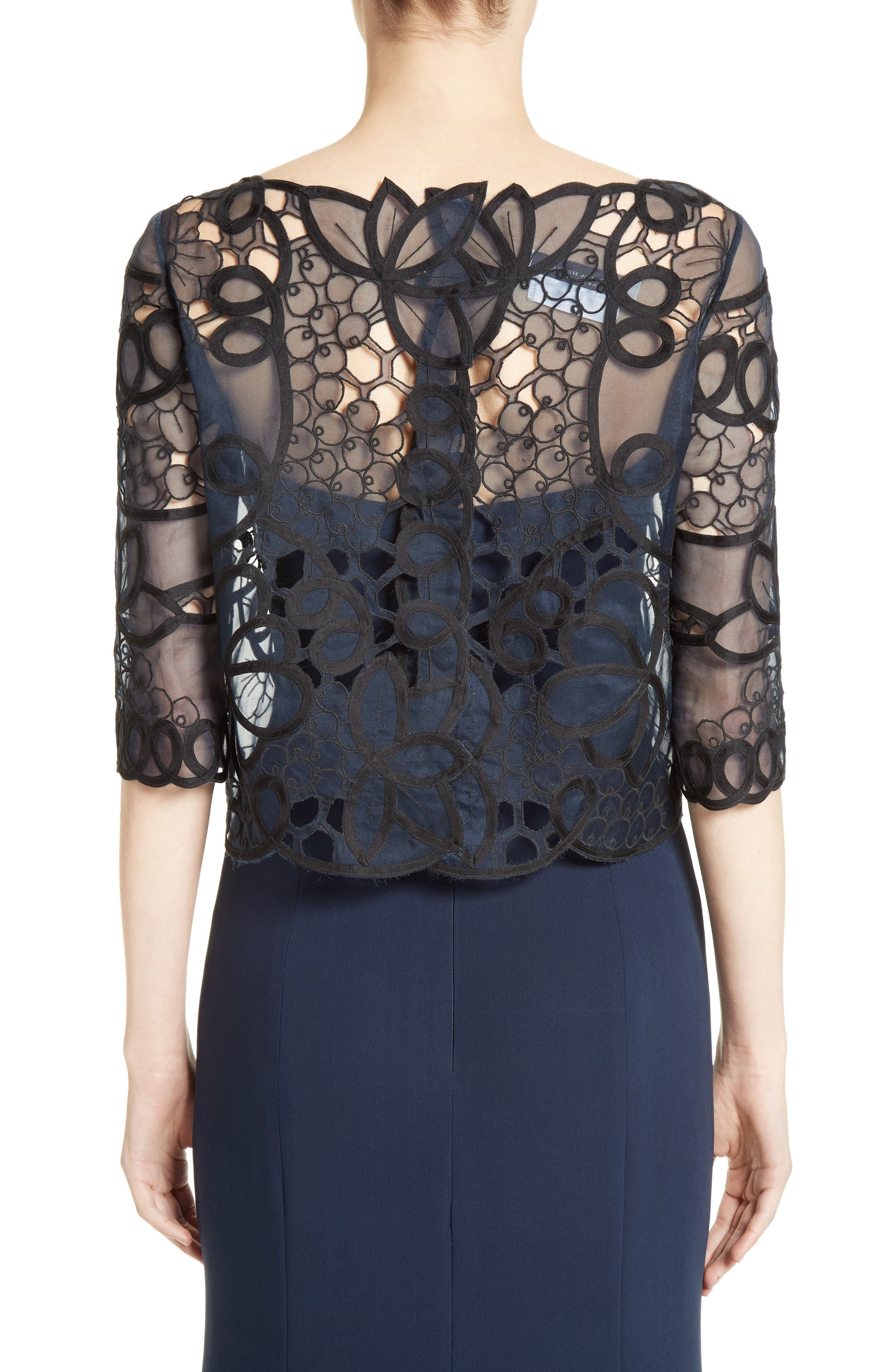 Alternate Image 3  - Carolina Herrera Reversible Lace Bolero