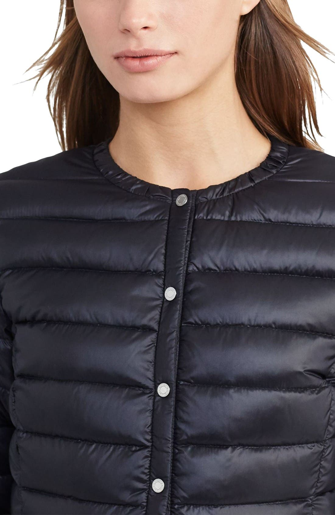 Alternate Image 3  - Lauren Ralph Lauren Packable Quilted Collarless Down Jacket