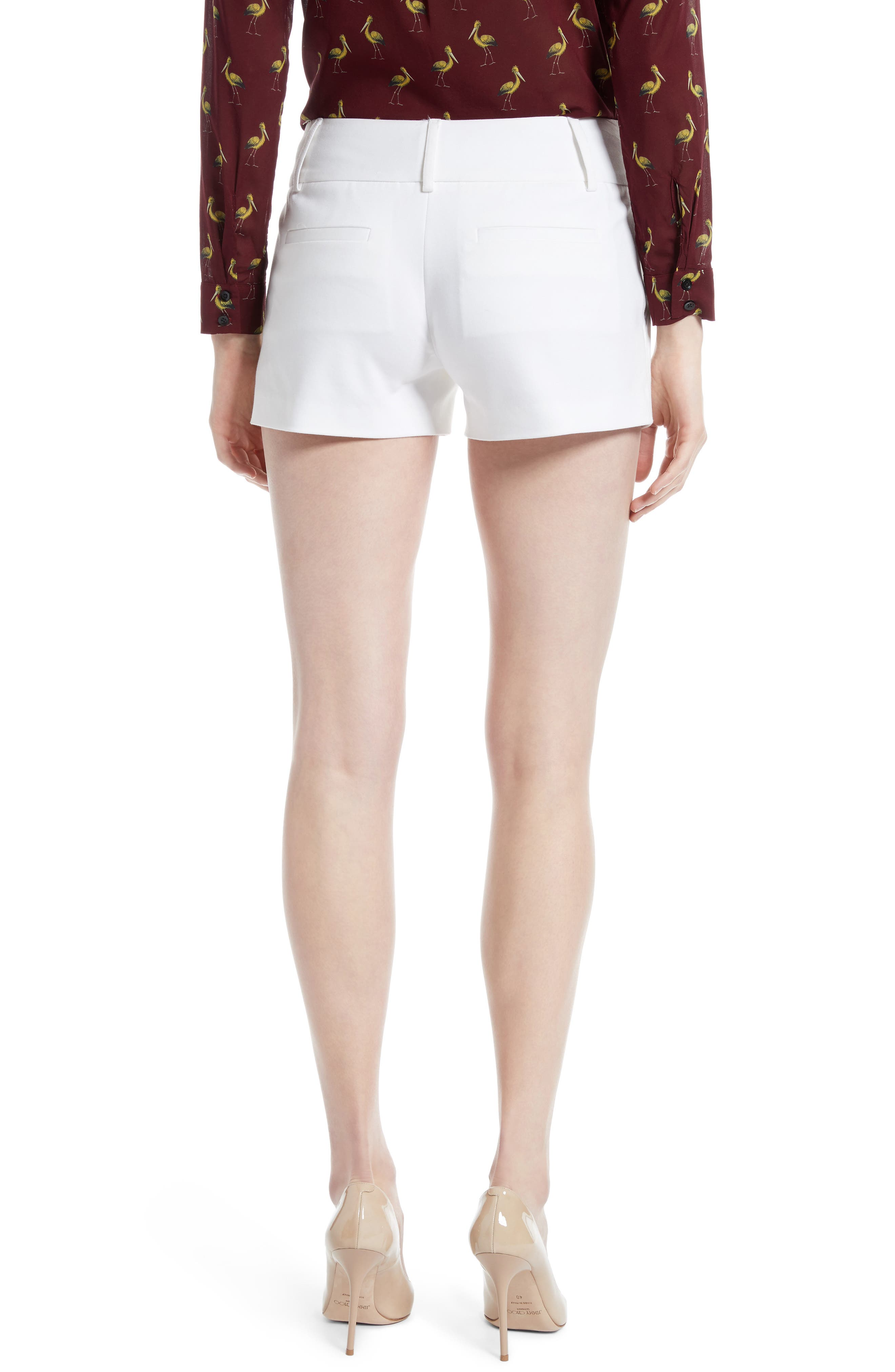 Cady Cotton Blend Shorts,                             Alternate thumbnail 2, color,                             White