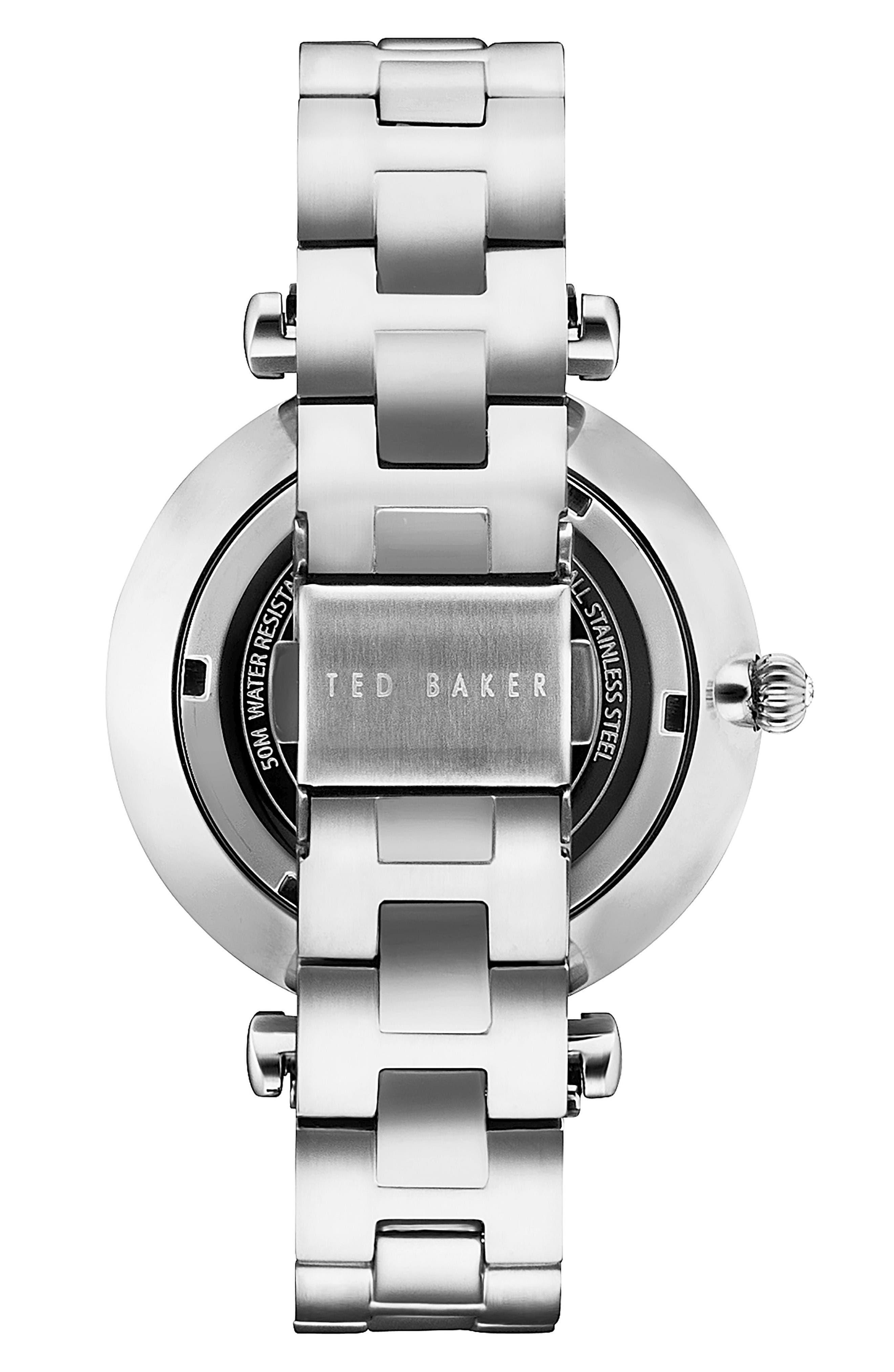 Ava Bracelet Watch, 36mm,                             Alternate thumbnail 2, color,                             Silver/ Pink