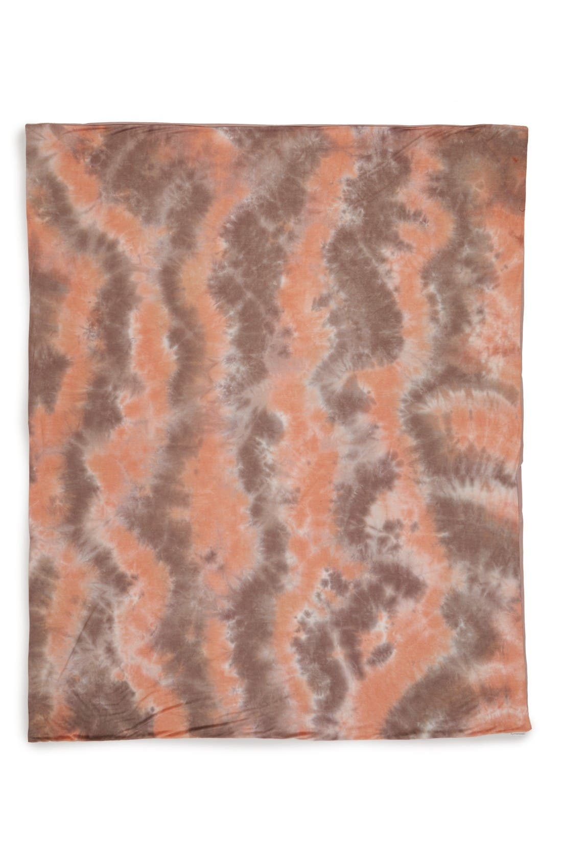 September Marbled Jersey Throw,                             Alternate thumbnail 2, color,                             Coral/ Multi