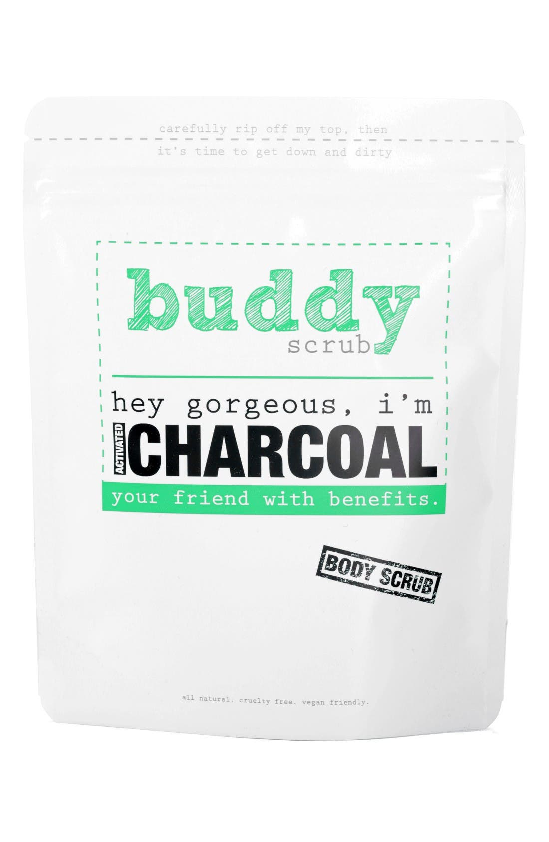 Activated Charcoal Scrub,                         Main,                         color, Charcoal