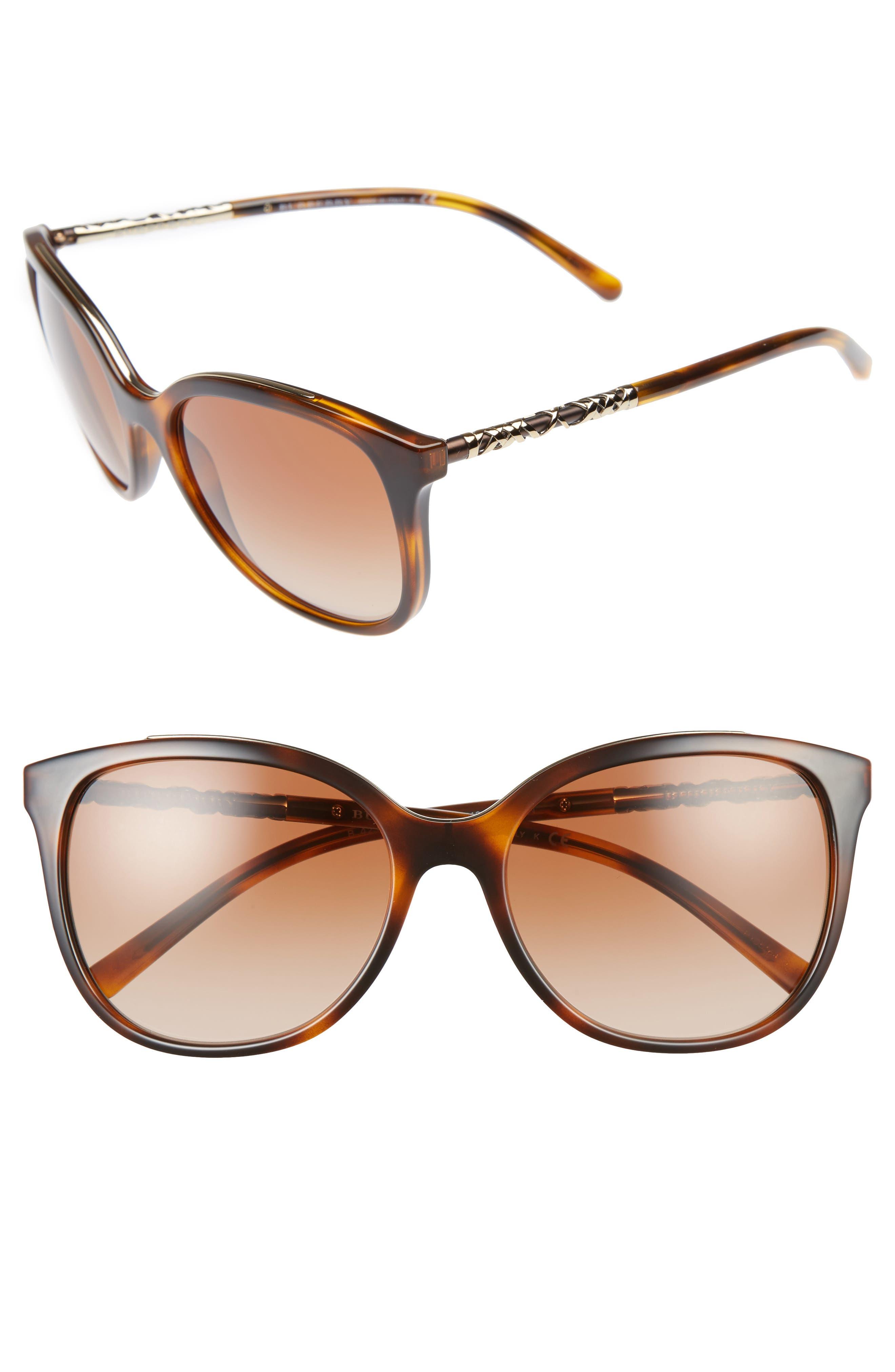 57mm Sunglasses,                         Main,                         color, Light Havana