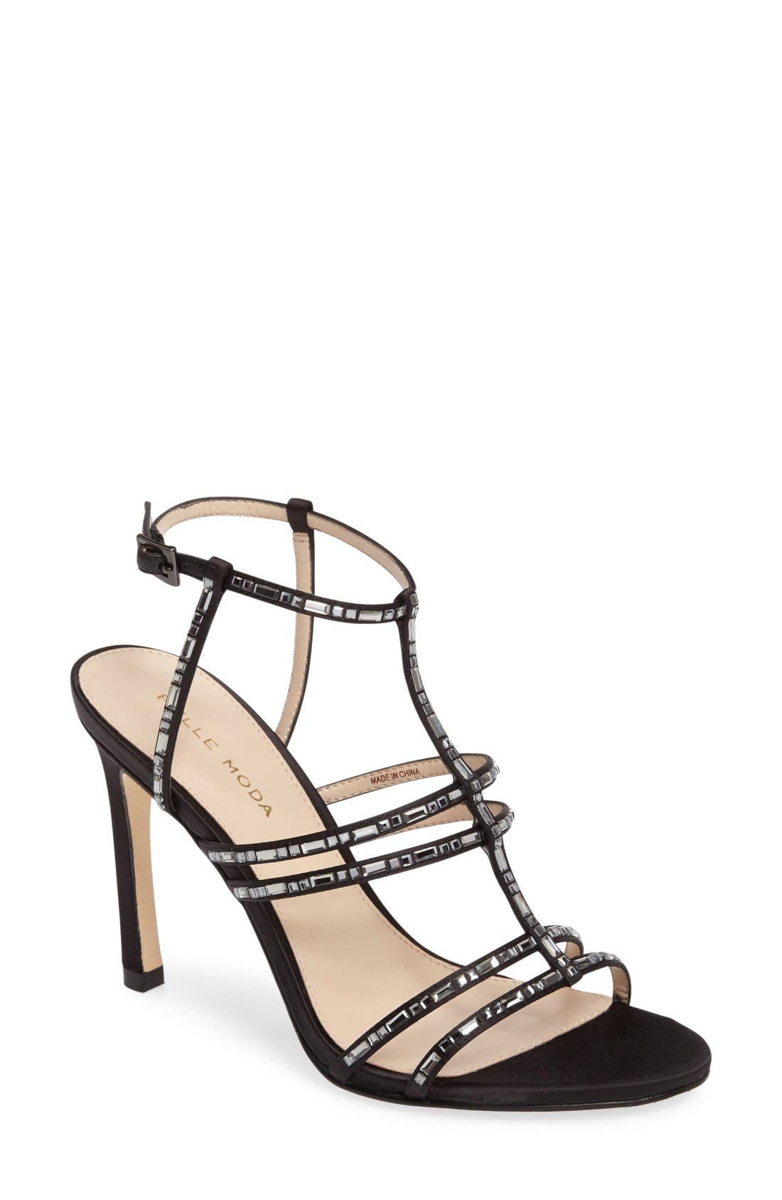 Essey 2 Sandal,                         Main,                         color, Black Leather