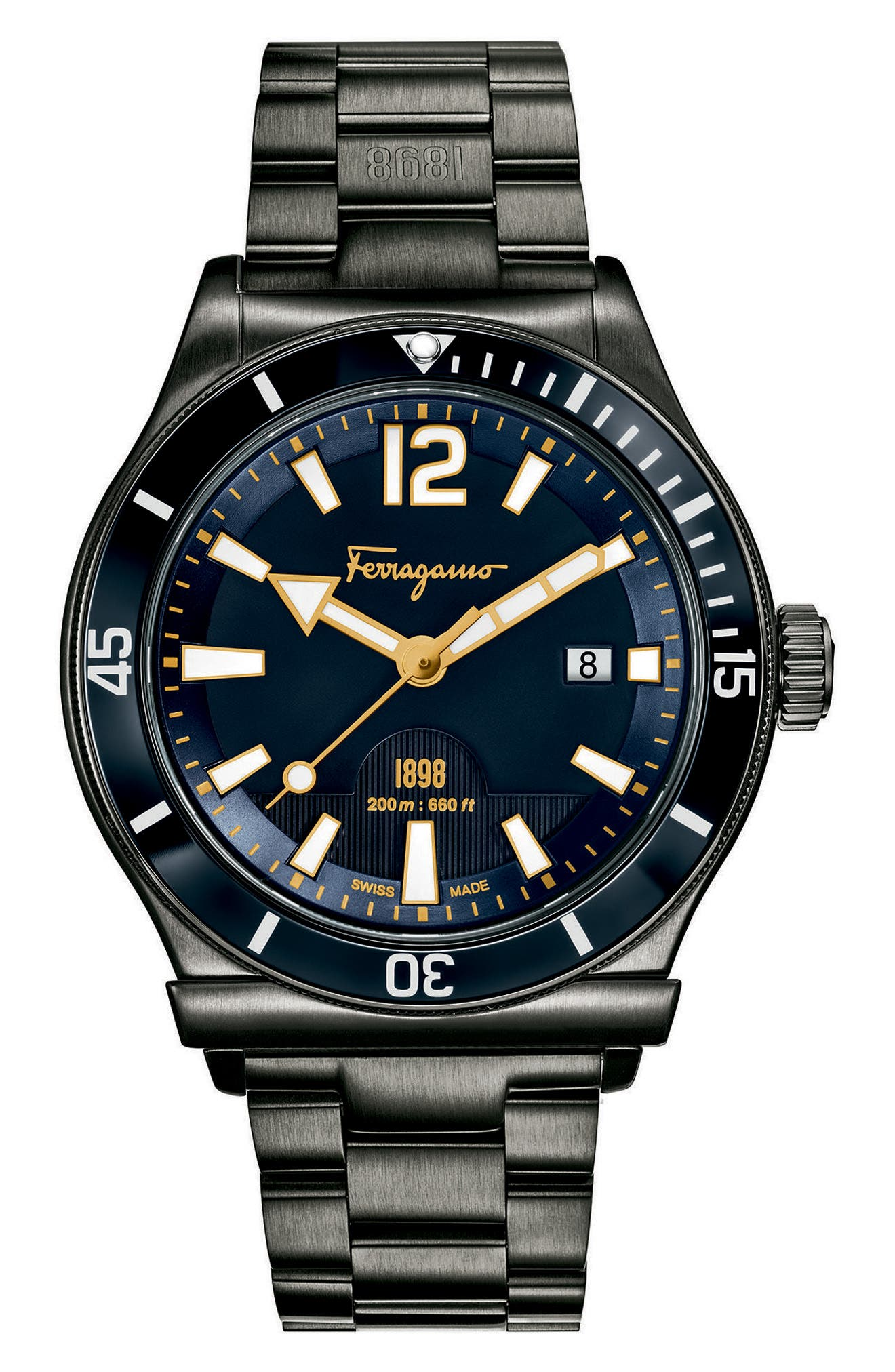Salvatore Ferragamo Sport Bracelet Watch, 43mm