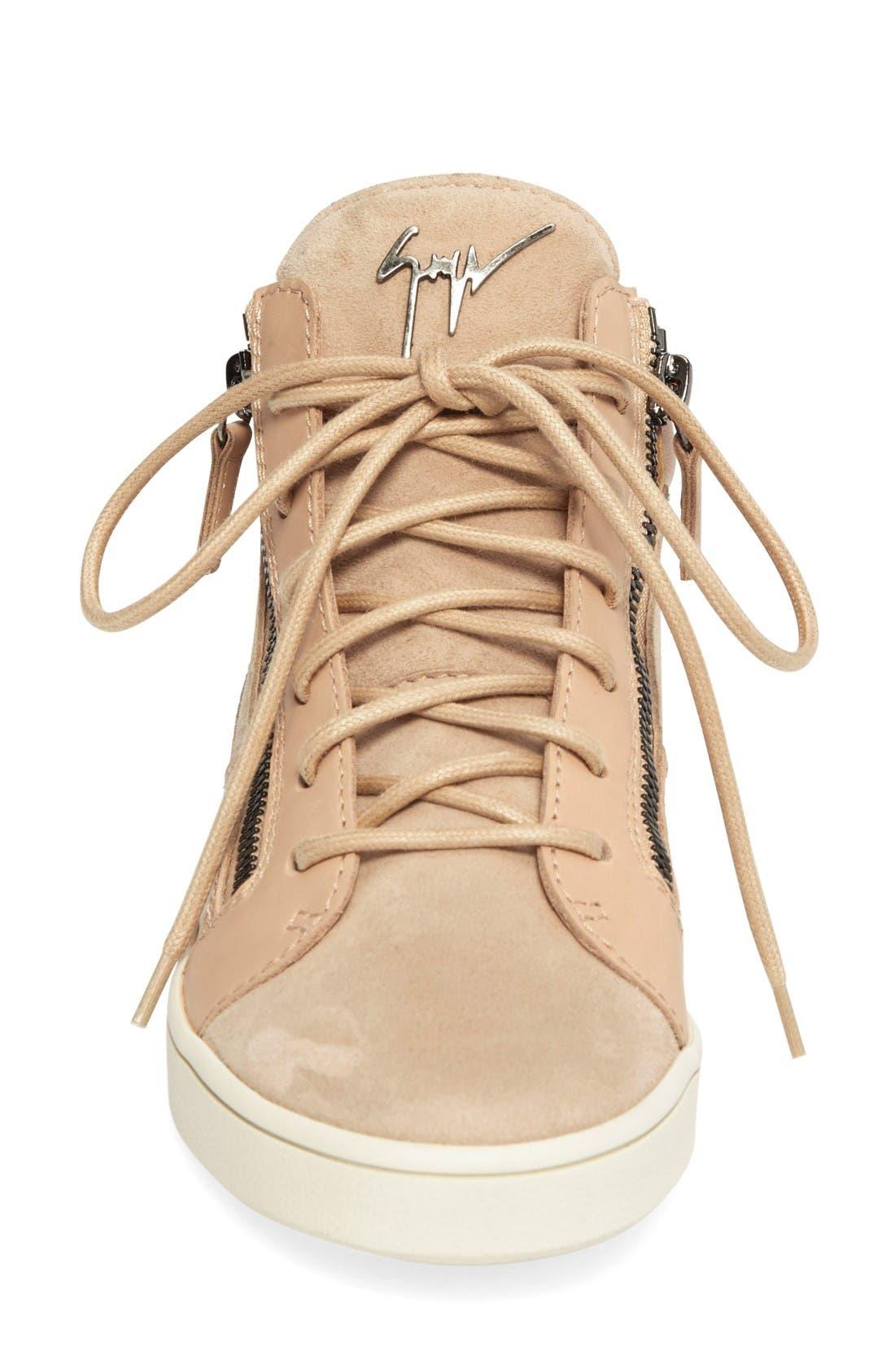 Alternate Image 3  - Giuseppe Zanotti High Top Sneaker (Women)