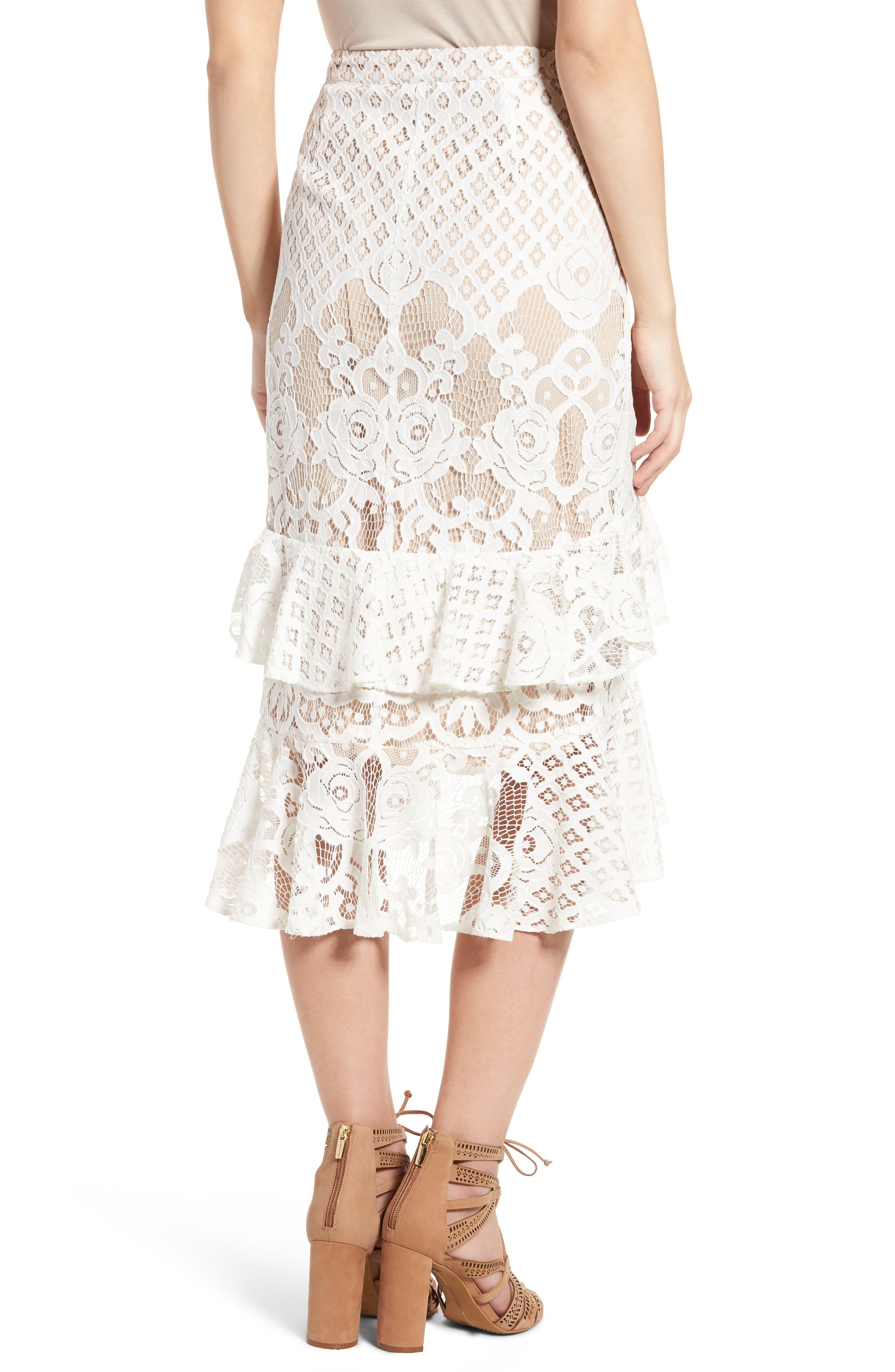 Alternate Image 3  - Chelsea28 Tiered Lace Midi Skirt