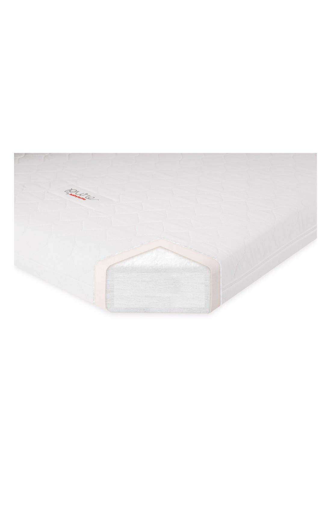 Pure Core Crib Mattress & Cover,                             Alternate thumbnail 4, color,                             White