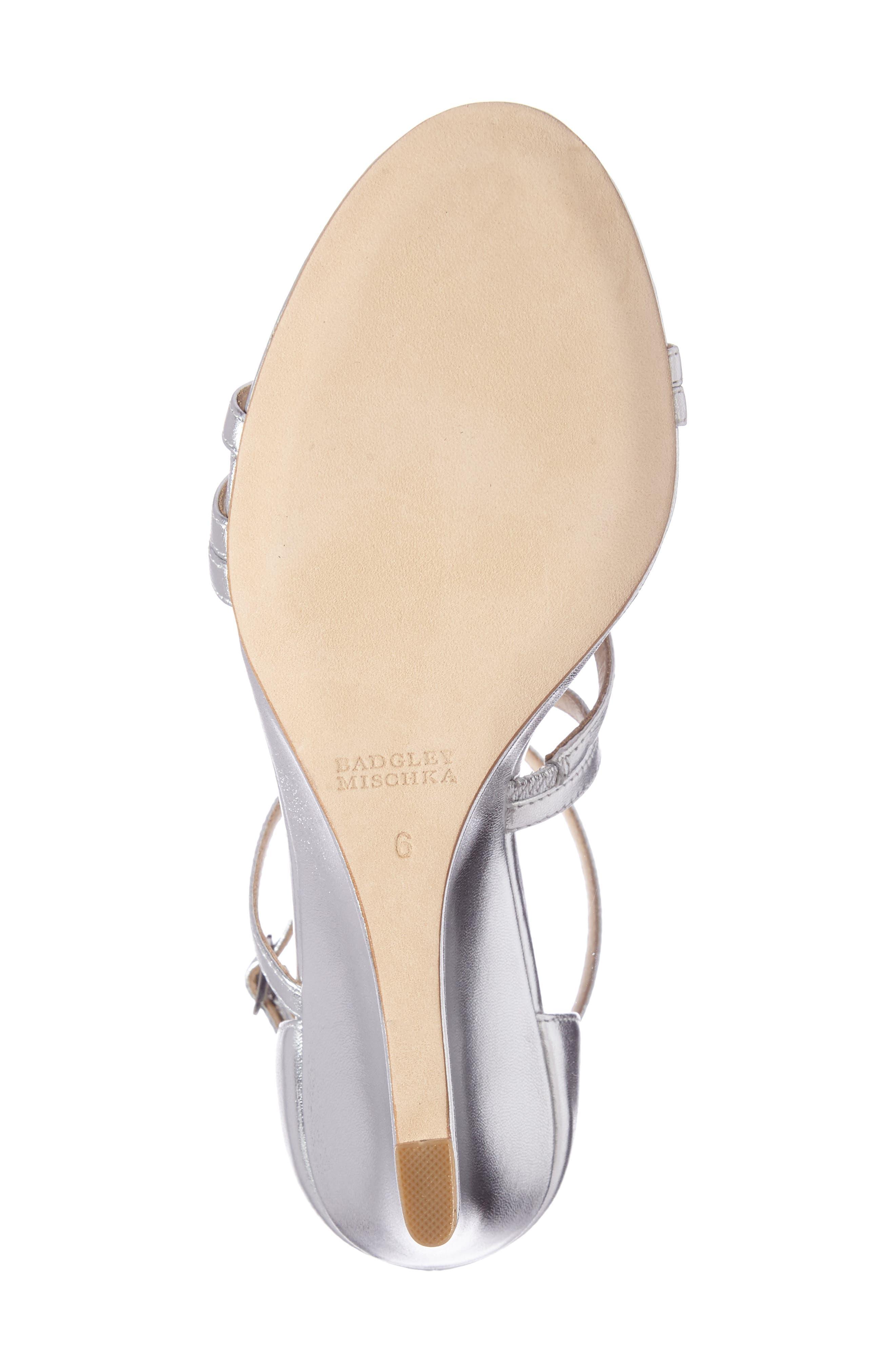 Alternate Image 4  - Badgley Mischka Bonanza Strappy Wedge Sandal (Women)