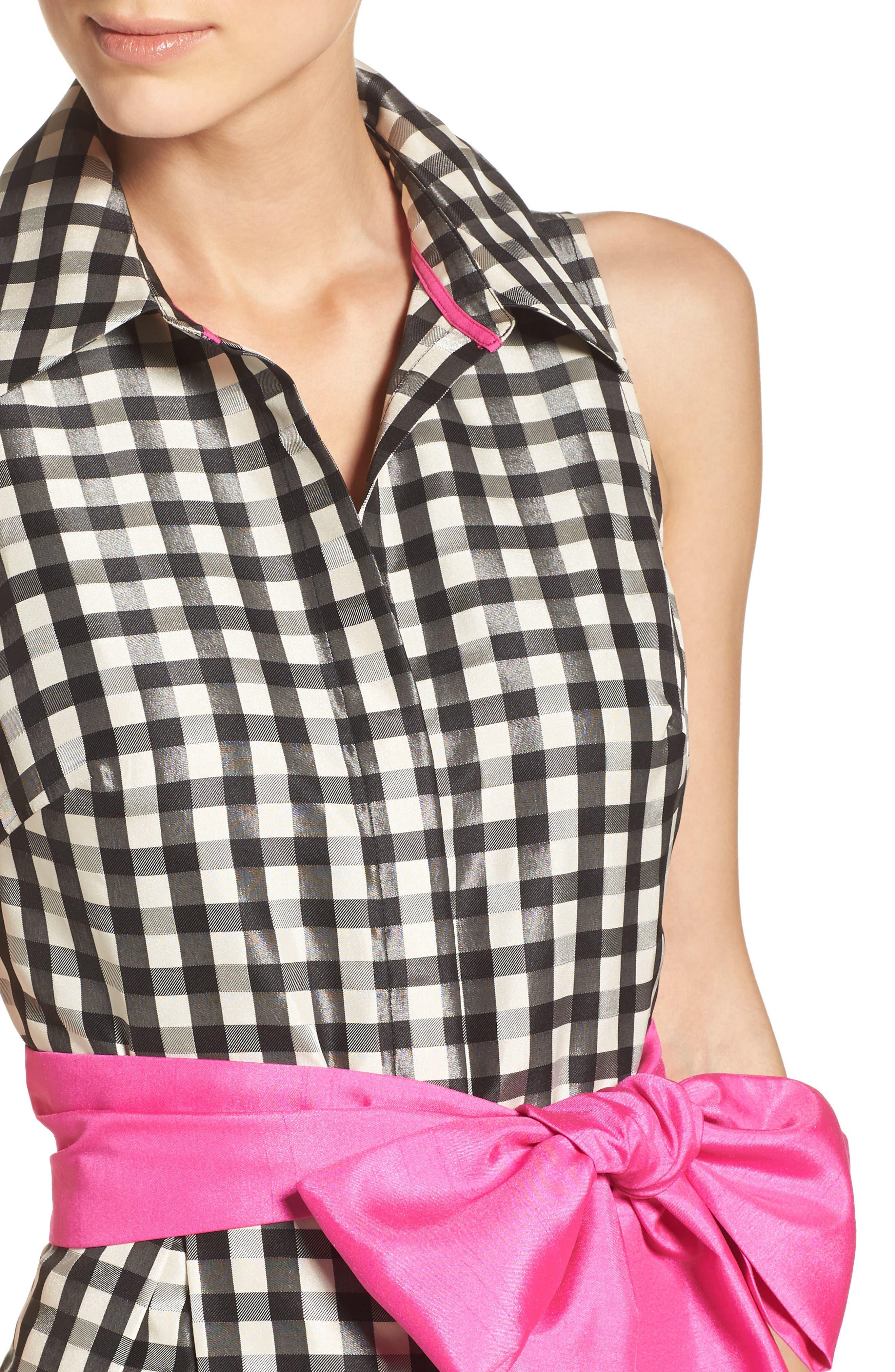 Alternate Image 4  - Eliza J Fit & Flare Shirtdress