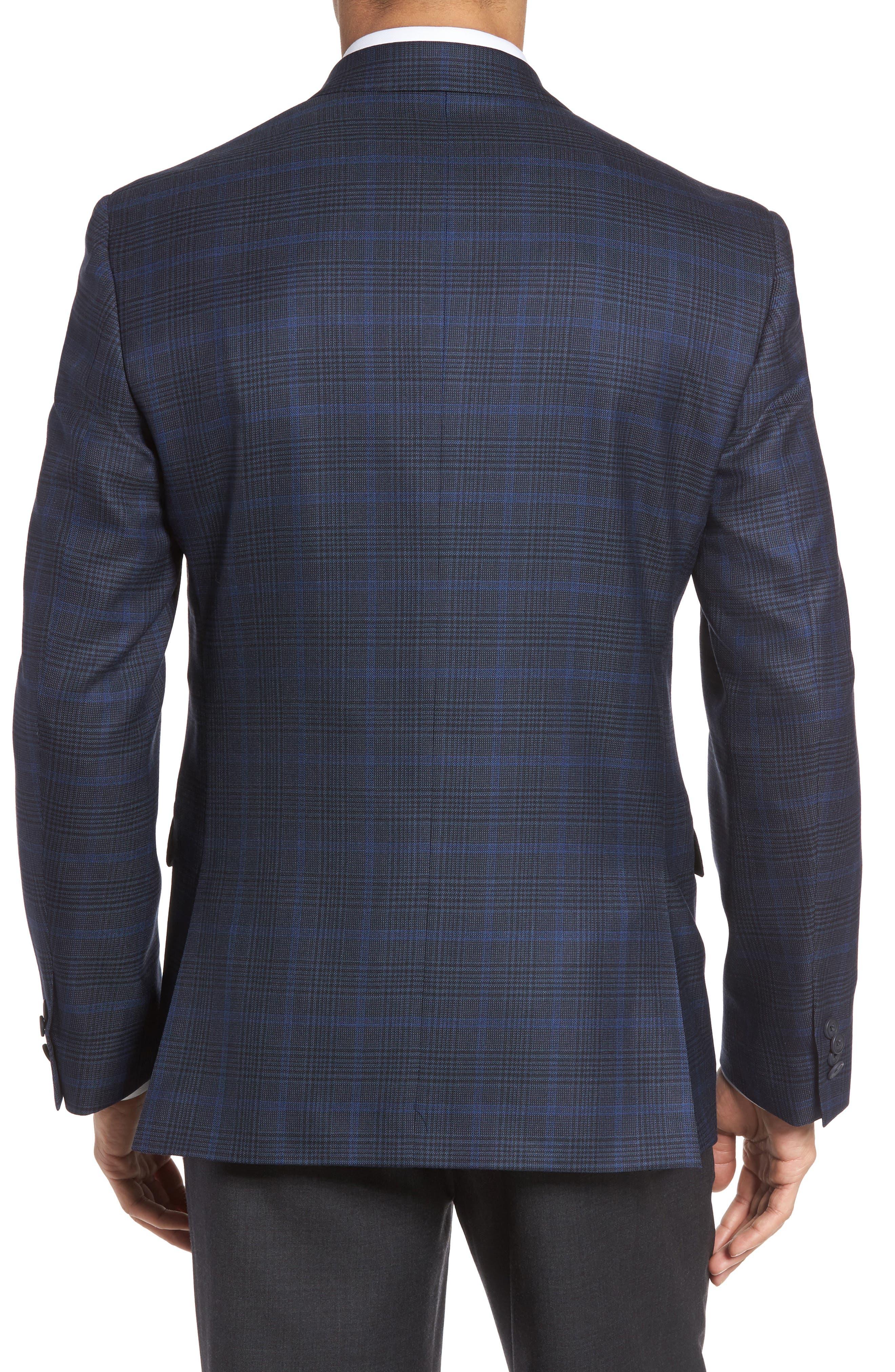 Alternate Image 2  - JB Britches Classic Fit Plaid Wool Sport Coat