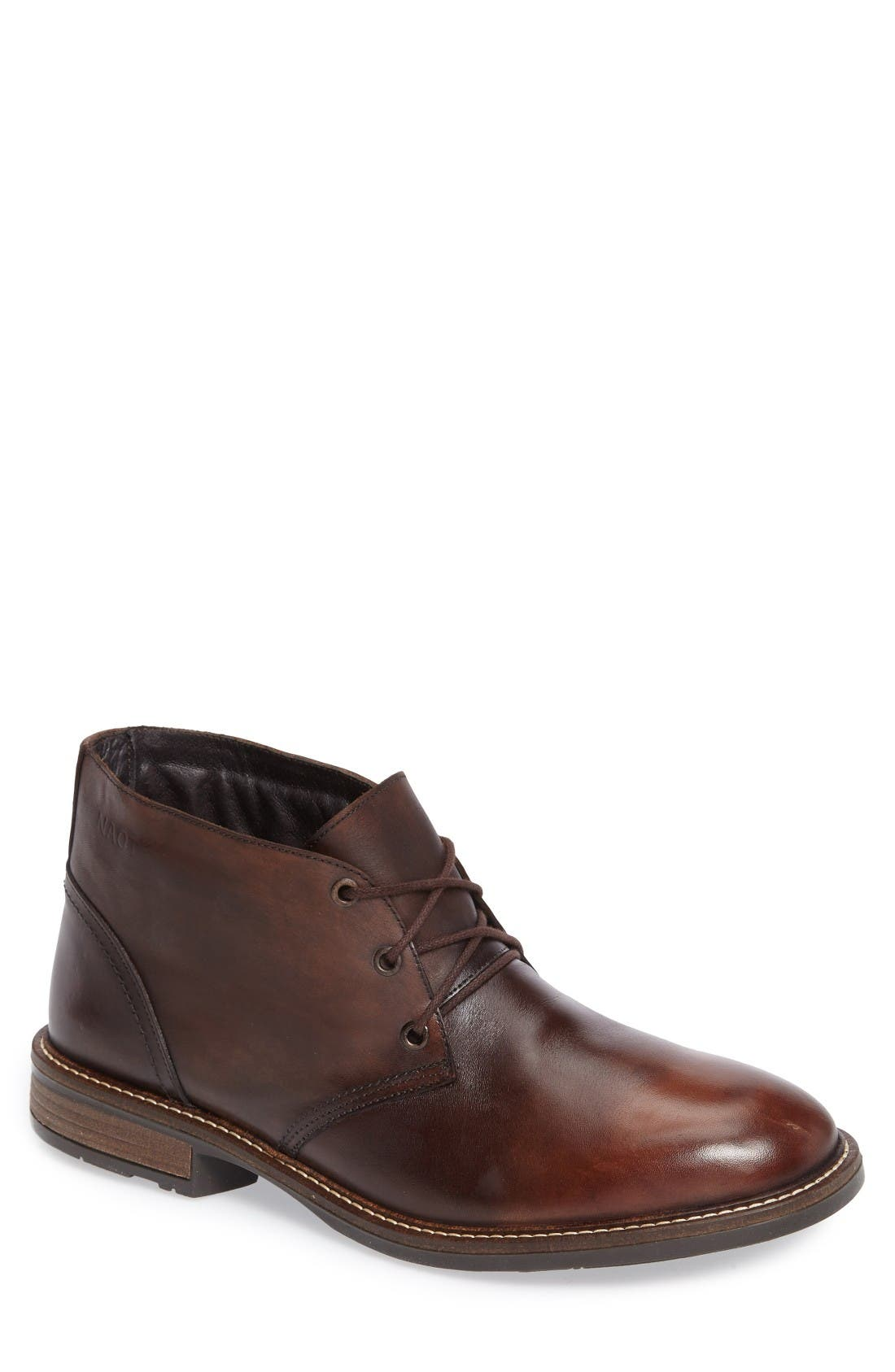 Pilot Chukka Boot,                             Main thumbnail 1, color,                             Brown Gradient Leather