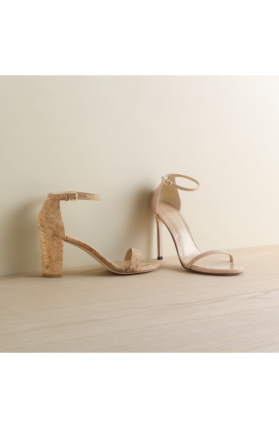 NearlyNude Ankle Strap Sandal,                             Alternate thumbnail 3, color,