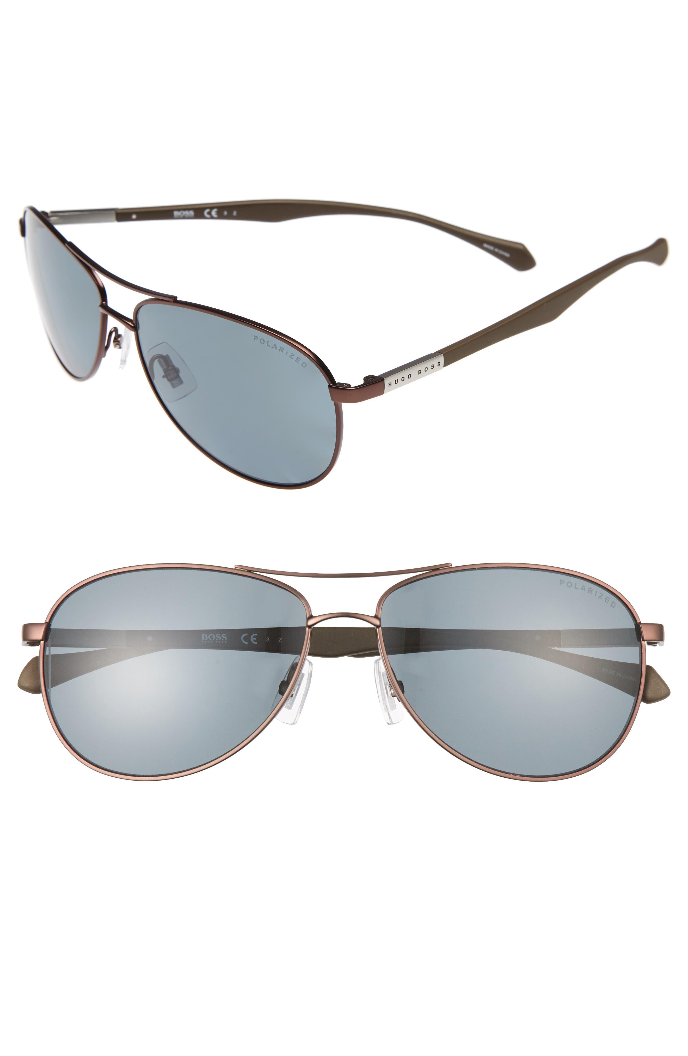Alternate Image 1 Selected - BOSS Polarized 60mm Sunglasses