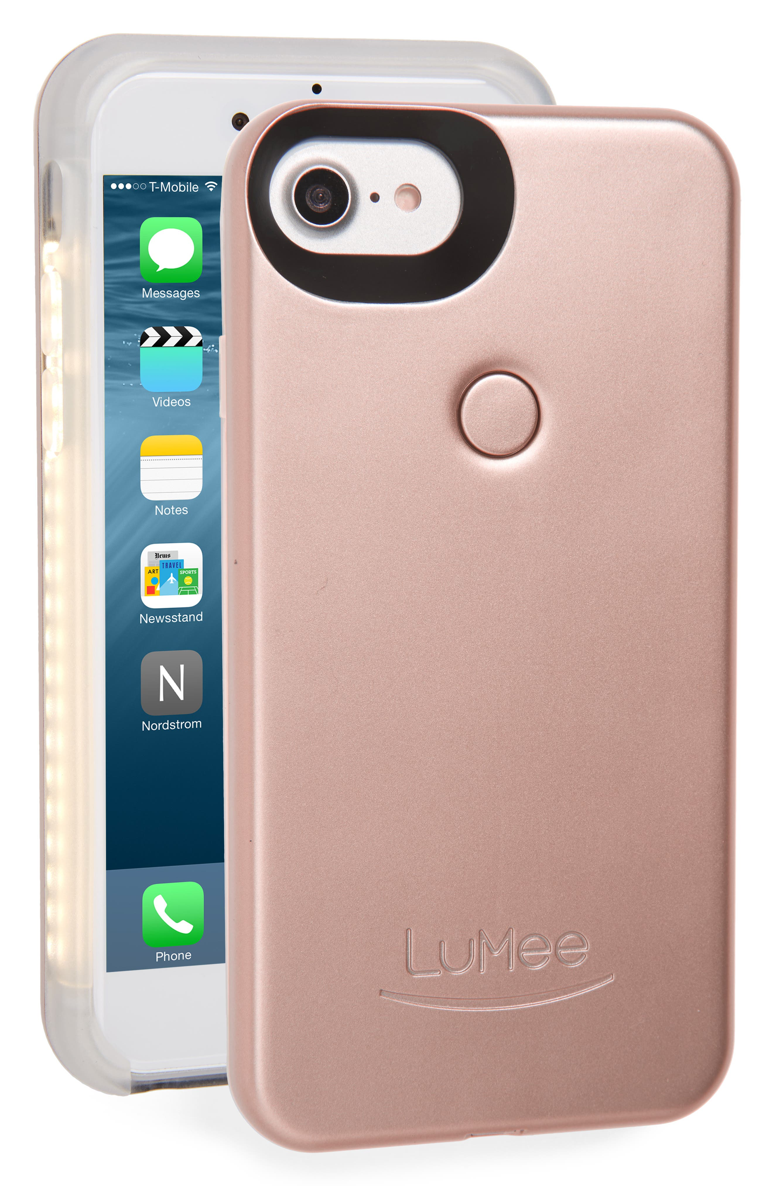 II Lighted iPhone 6/7/8 & 6/7/8 Plus Case,                             Main thumbnail 1, color,                             Rose Matte