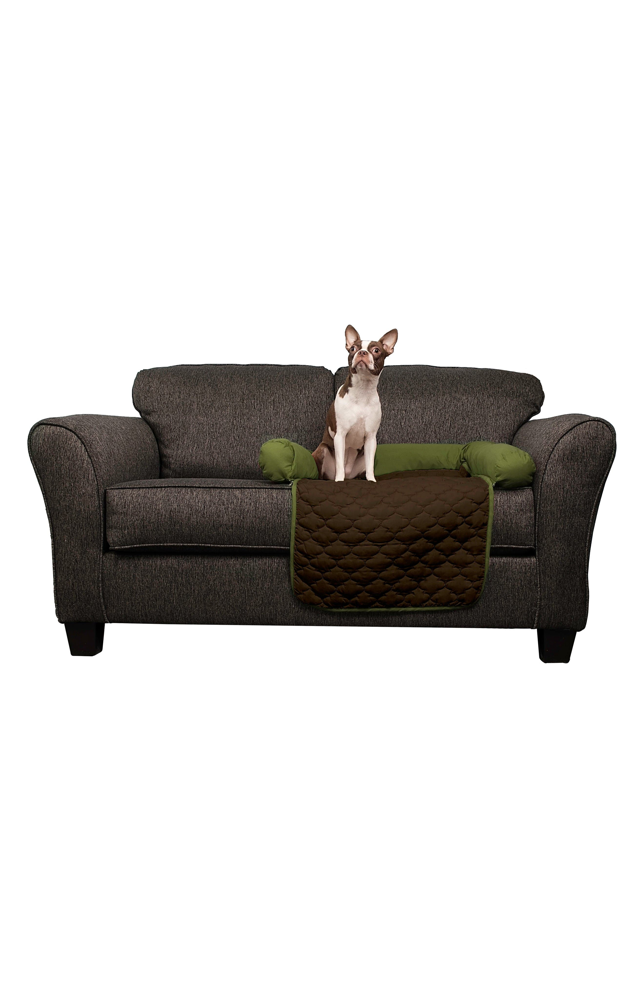 Wubba Reversible Pet Bed,                             Alternate thumbnail 2, color,                             Sage/ Chocolate