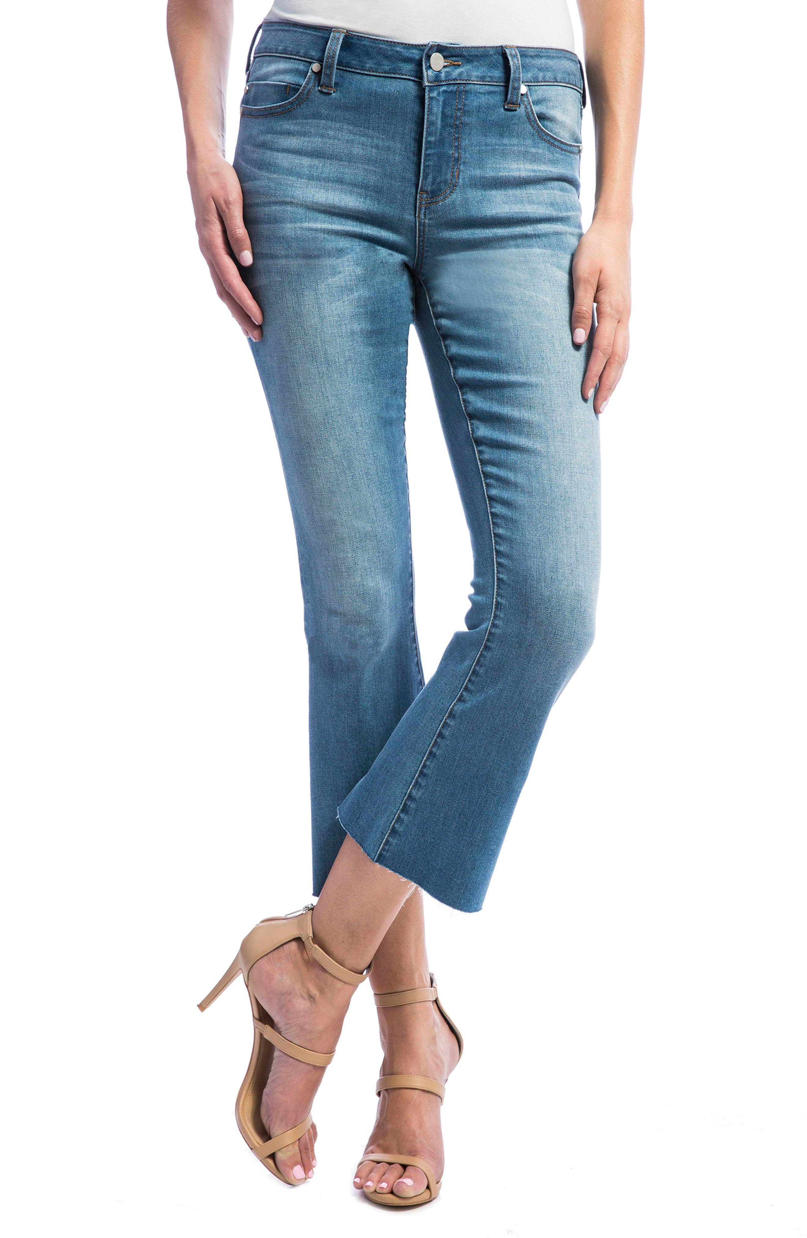 LIVERPOOL JEANS COMPANY Stretch Crop Flare Leg Jeans