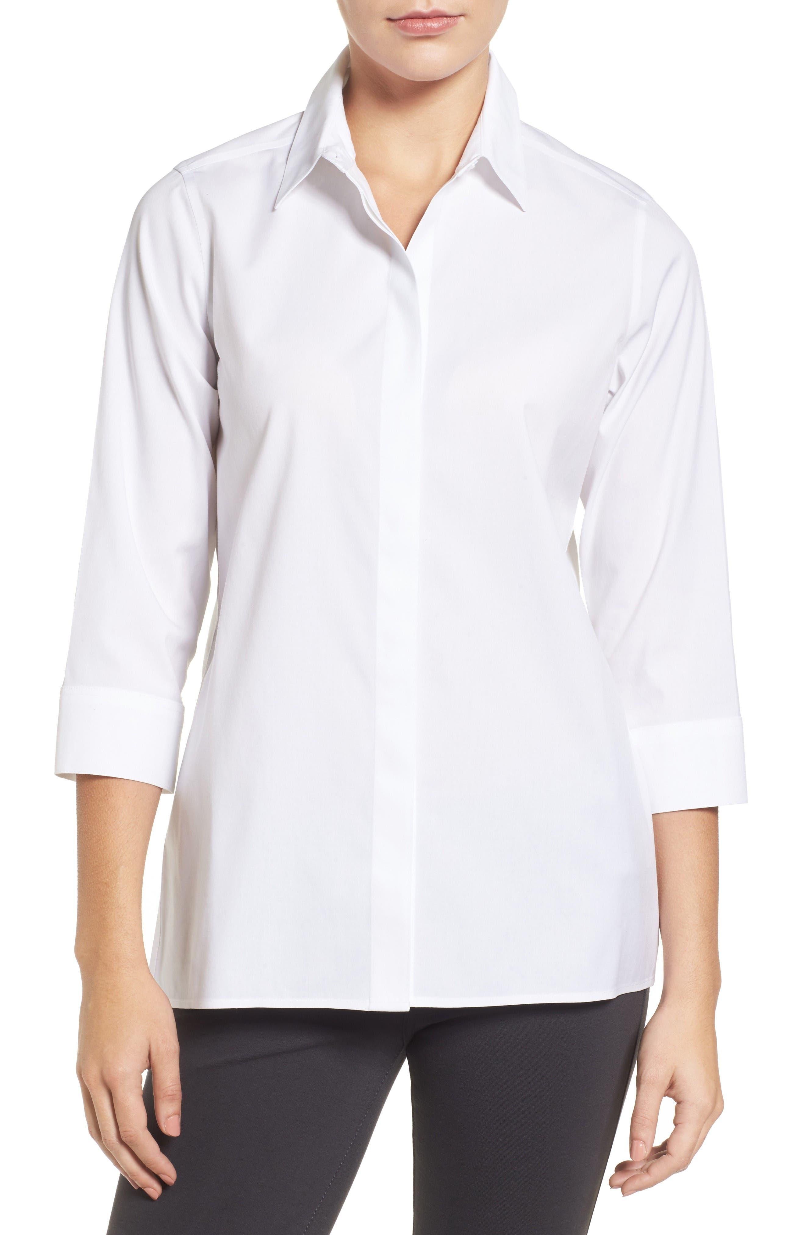 Foxcroft Gigi Stretch Cotton Tunic