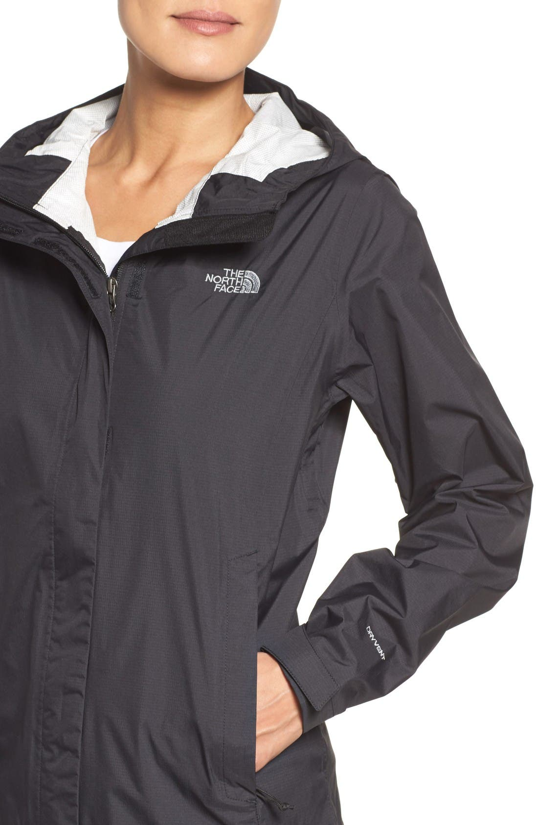 Venture 2 Waterproof Jacket,                             Alternate thumbnail 4, color,                             Tnf Black