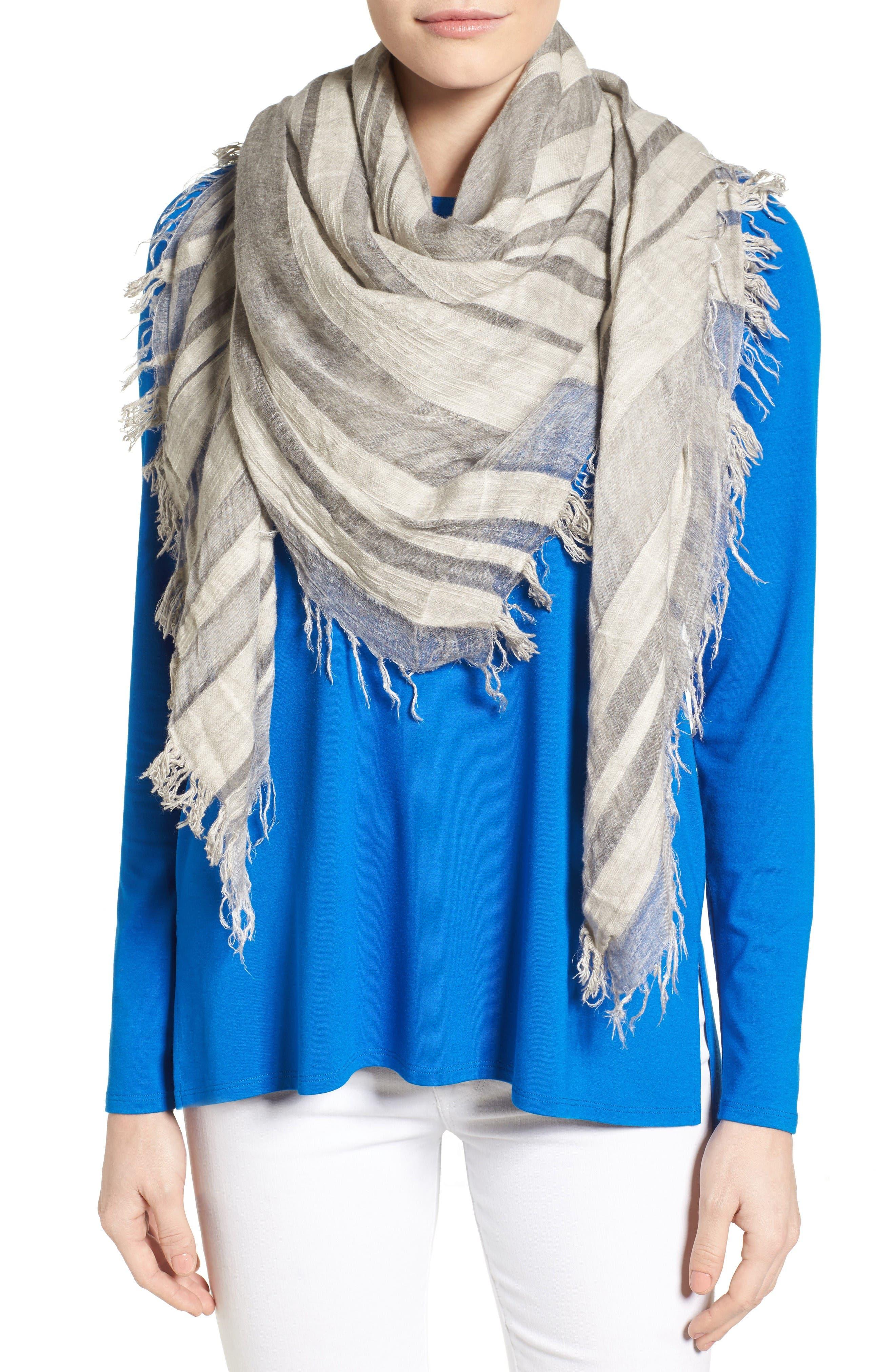 Alternate Image 1 Selected - Eileen Fisher Maltinto Organic Cotton & Modal Scarf