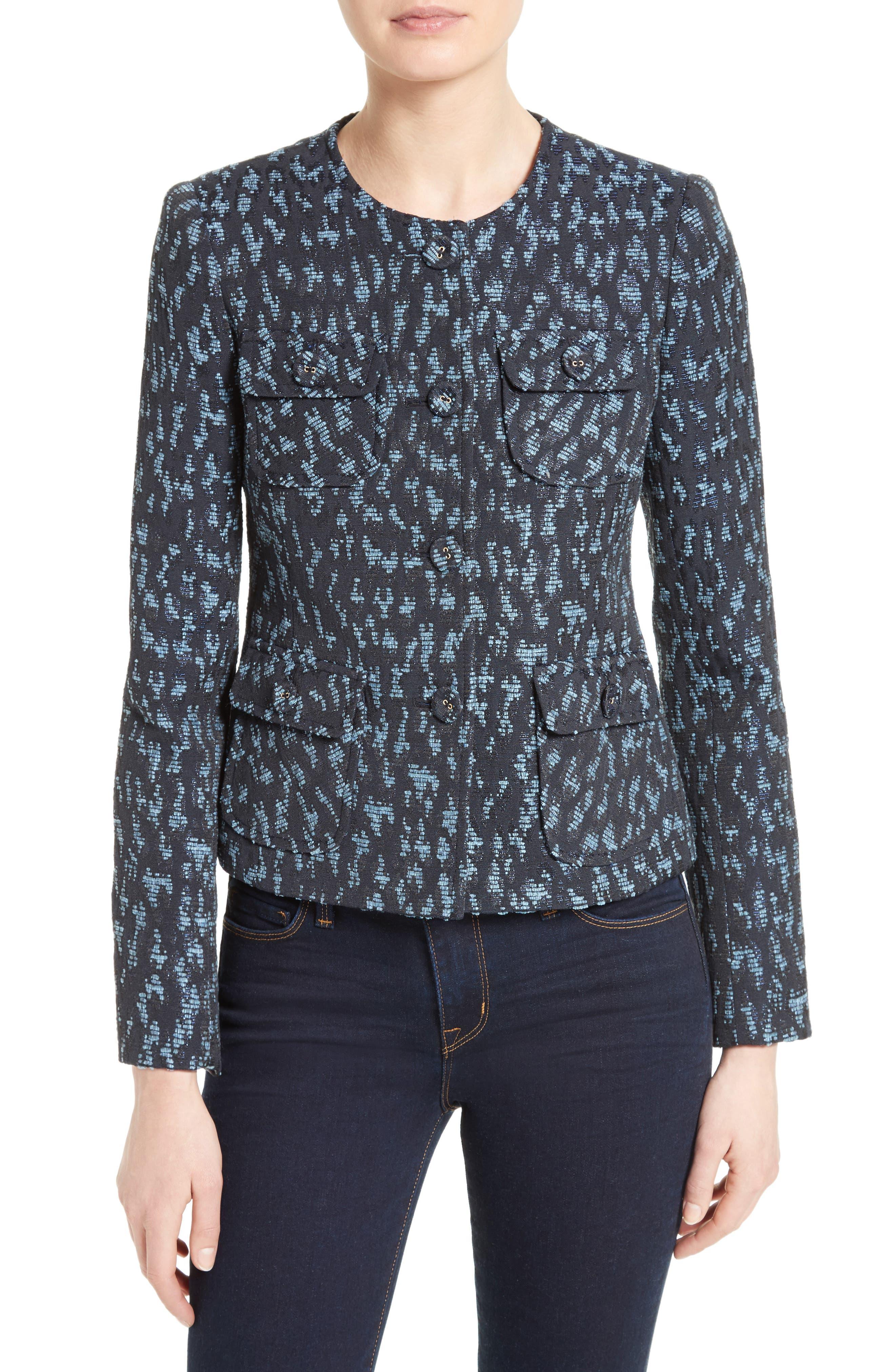 Helene Berman Collarless Tweed Jacket